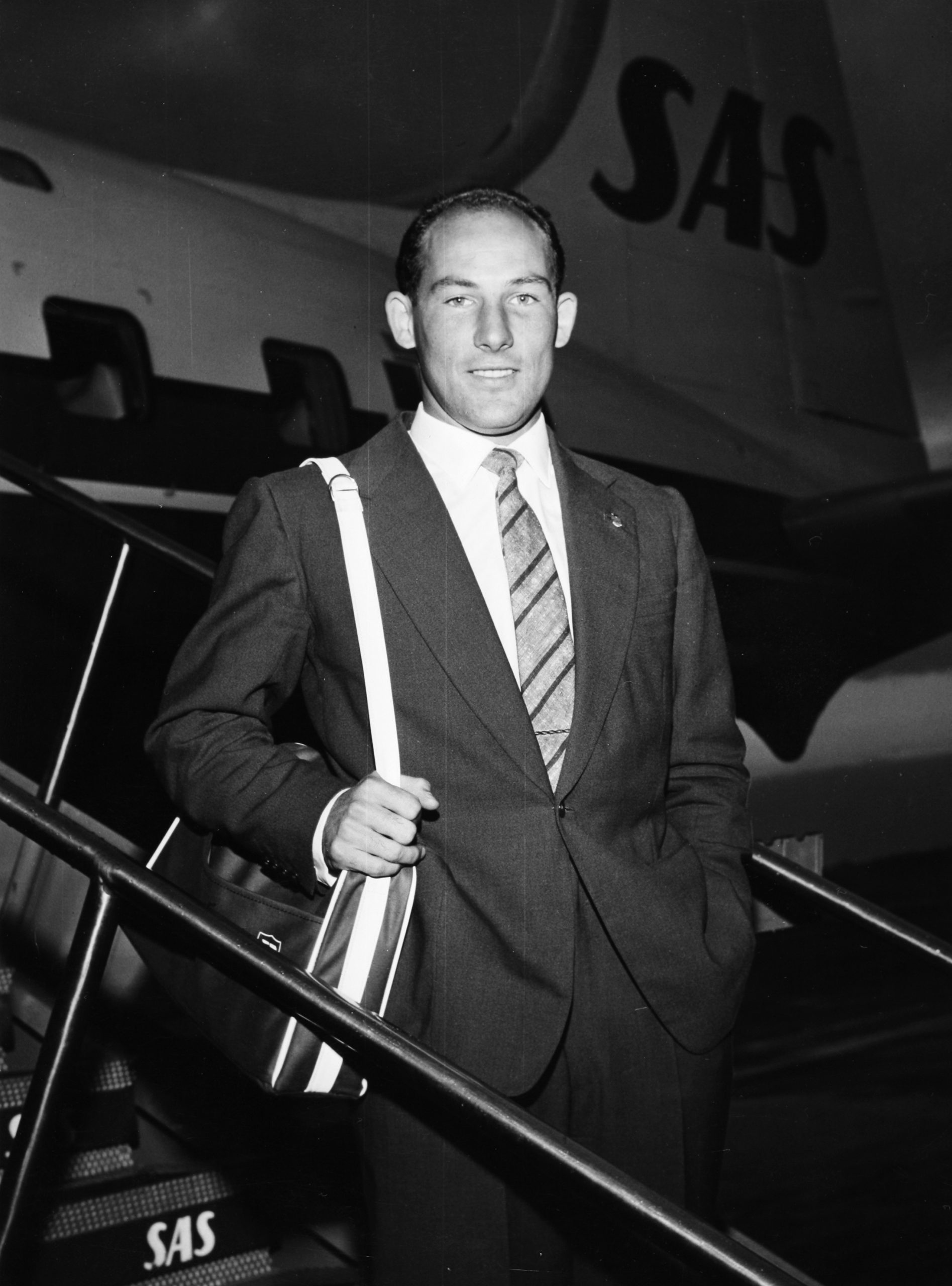 Stirling Moss young sas airlines denmark plane
