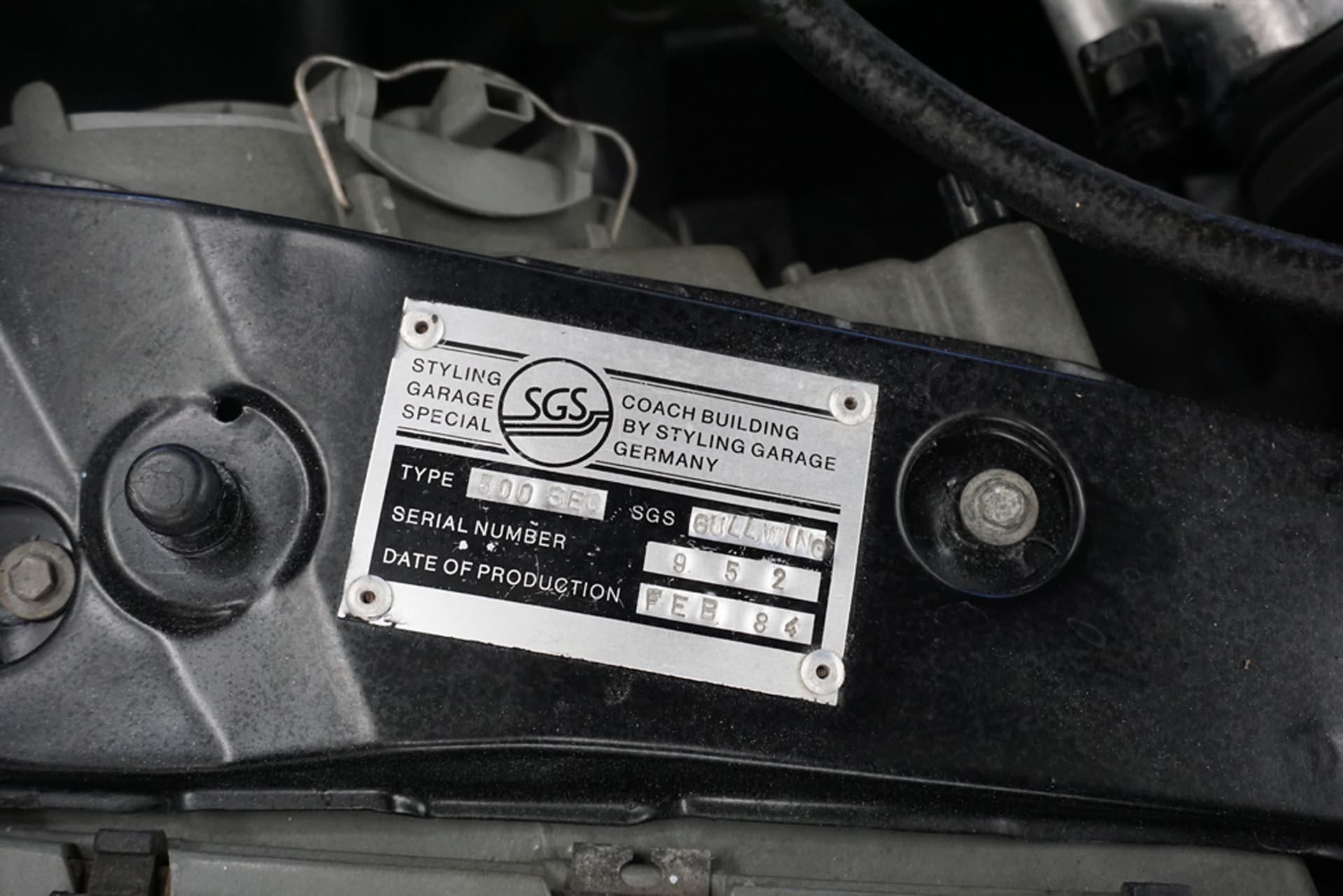 Styling Garage SEC1000 Gullwing Vin Plate