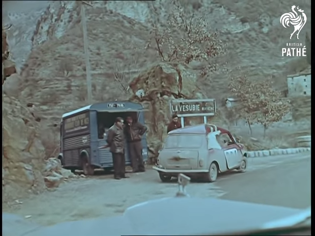 1960 Mini Austin Seven Citroen HY Van on Roadside