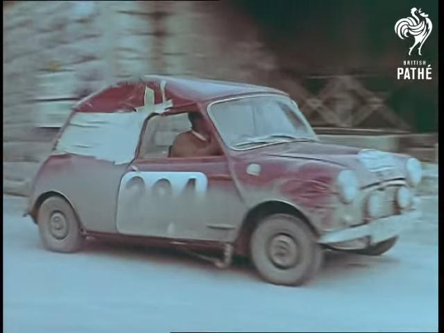 1960 Mini Austin Seven Rally Action Front Three-Quarter