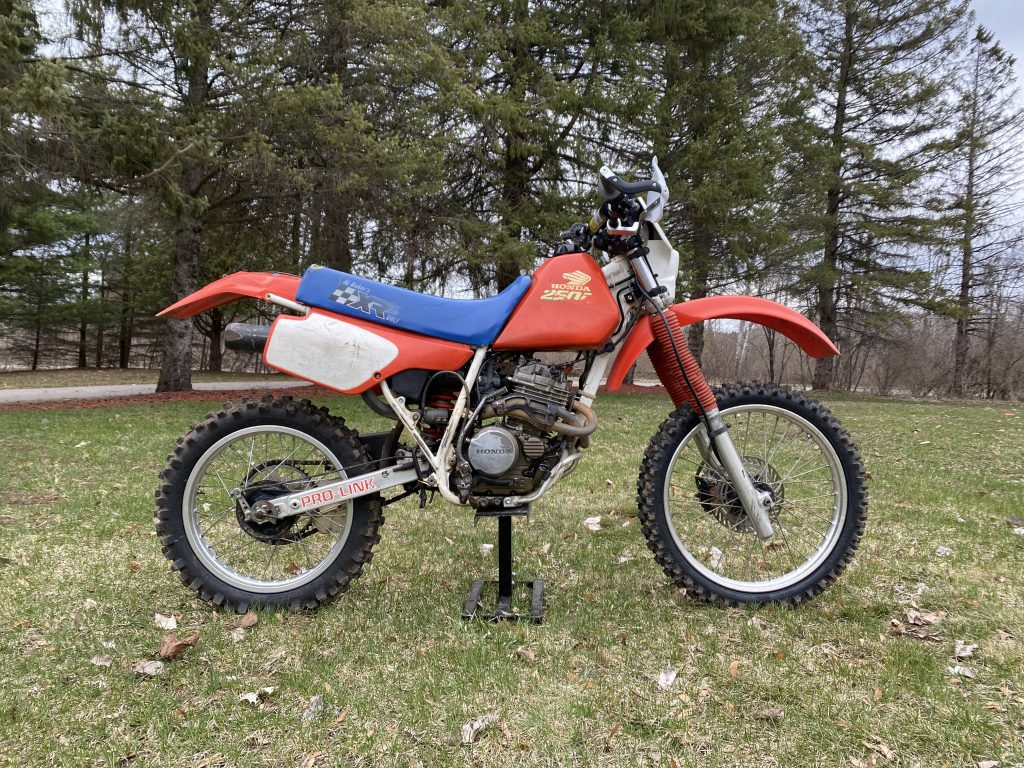 Honda Xr250 side profile finished