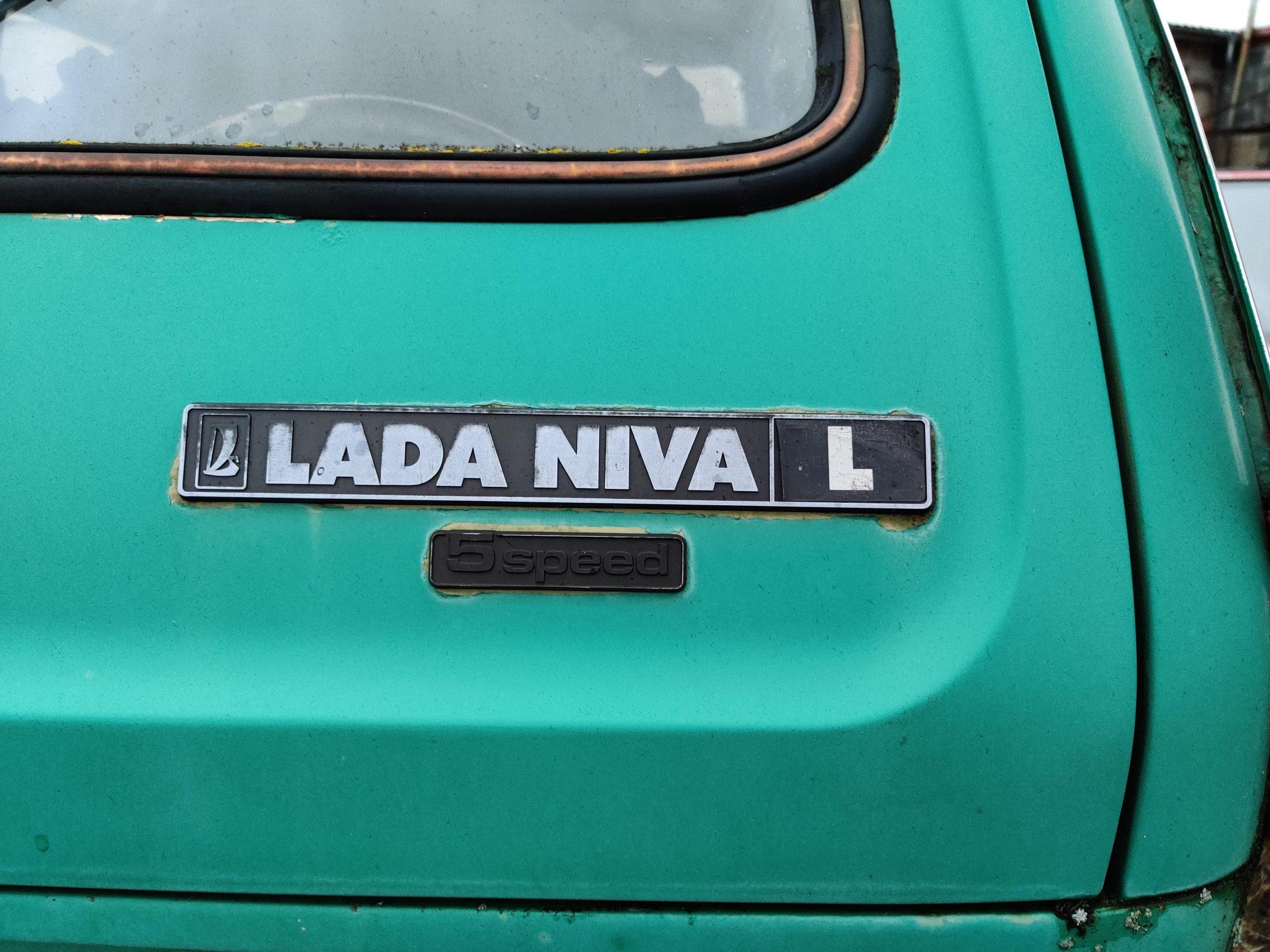 teal lada niva L trunk rear