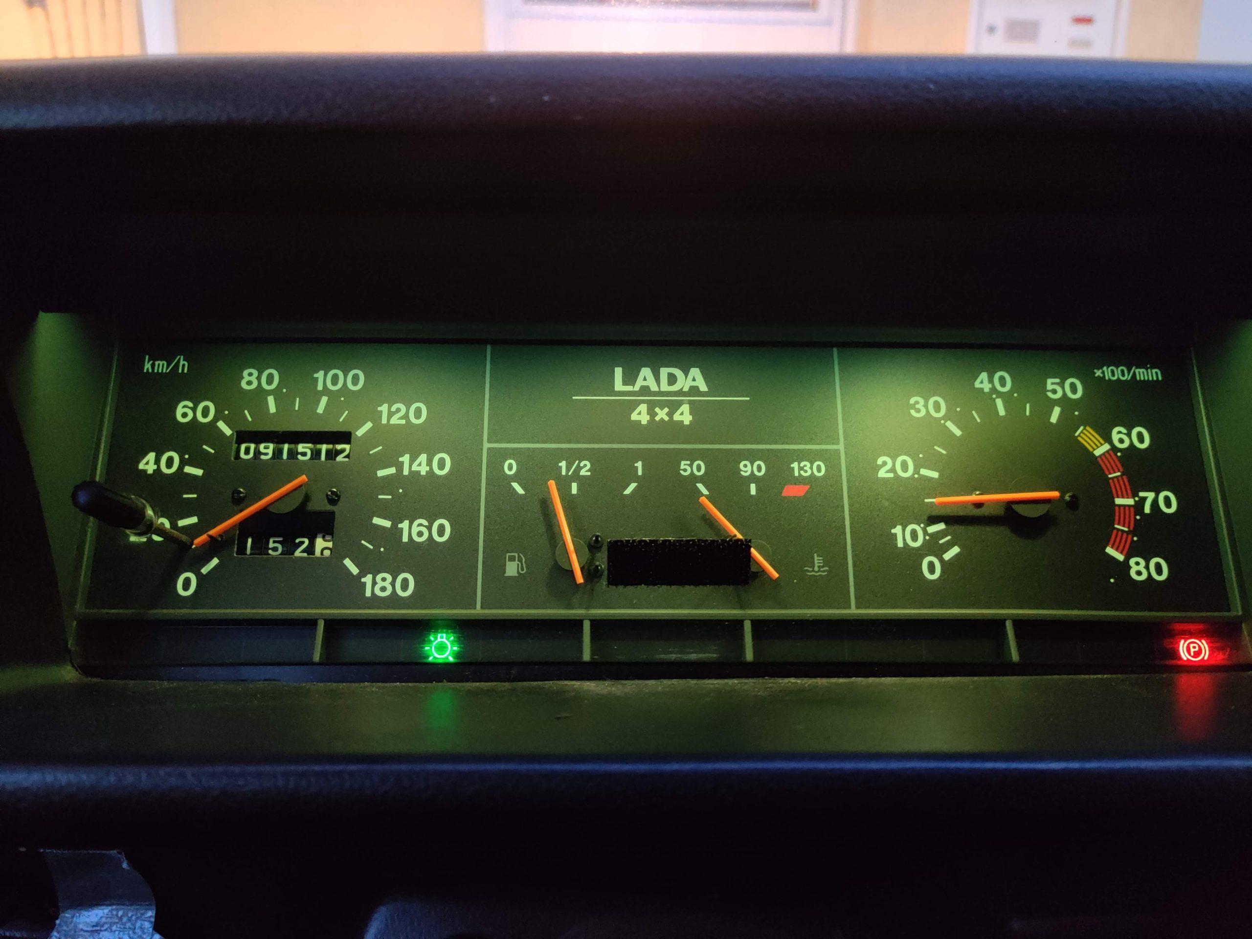 lada niva instrument panel interior