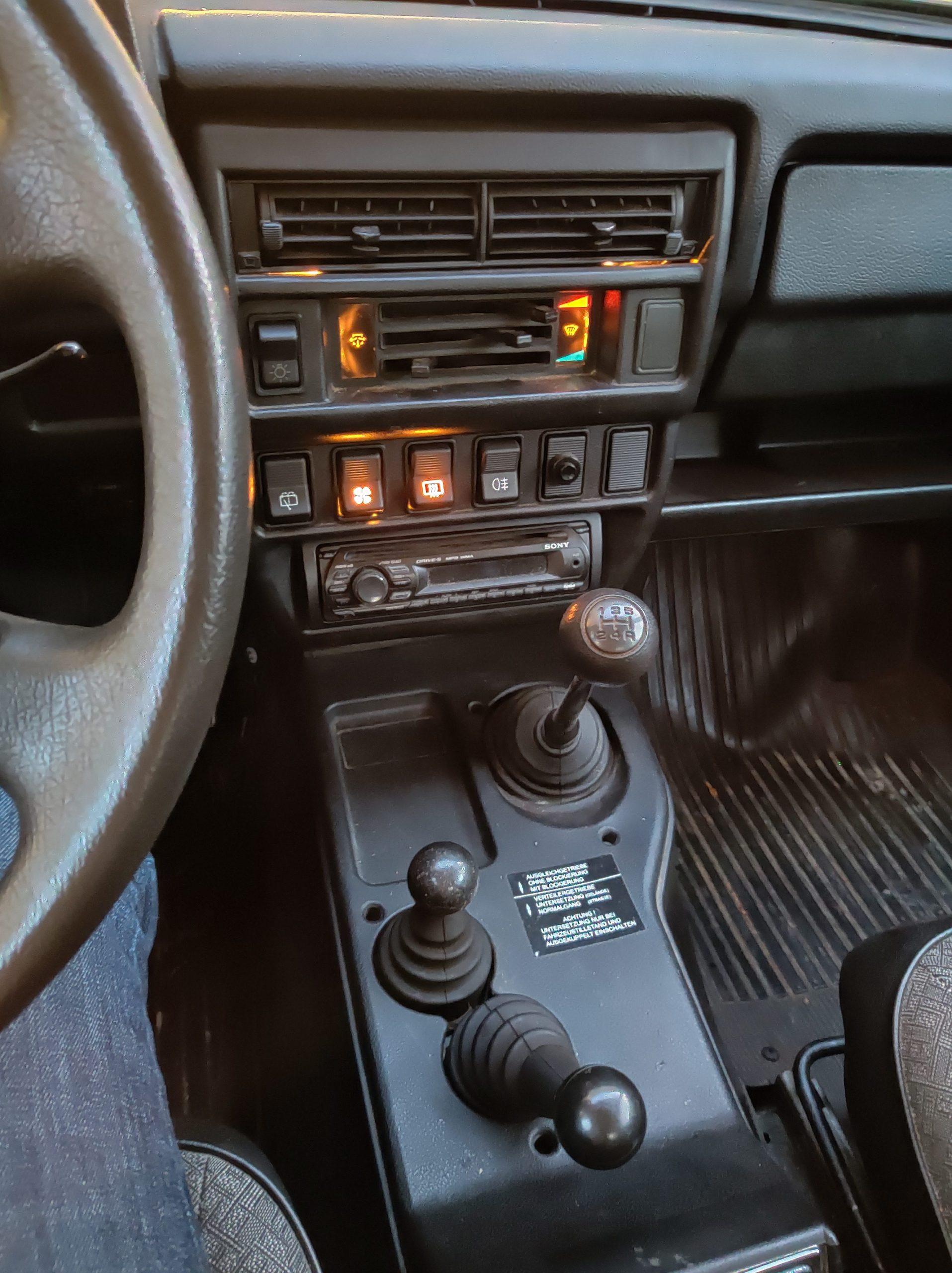 lada niva stick shift interior