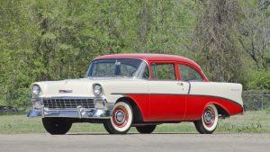 1956 Chevrolet Del Ray Sedan front three-quarter