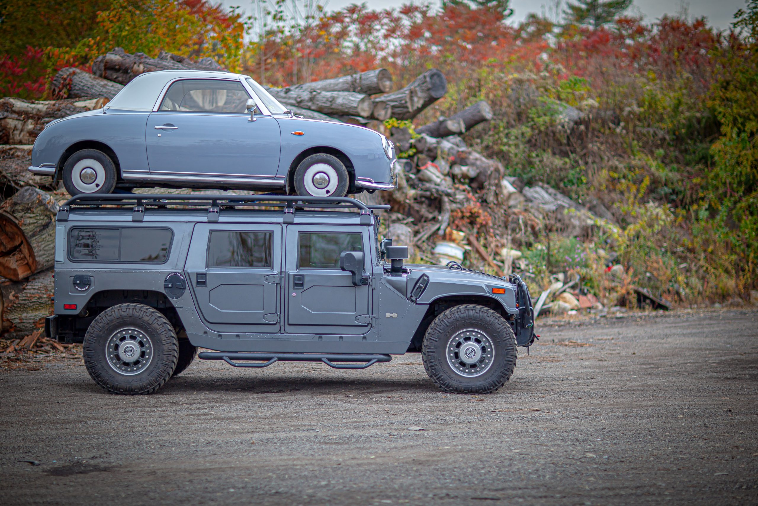 hummer predator rack nissan figaro on top side