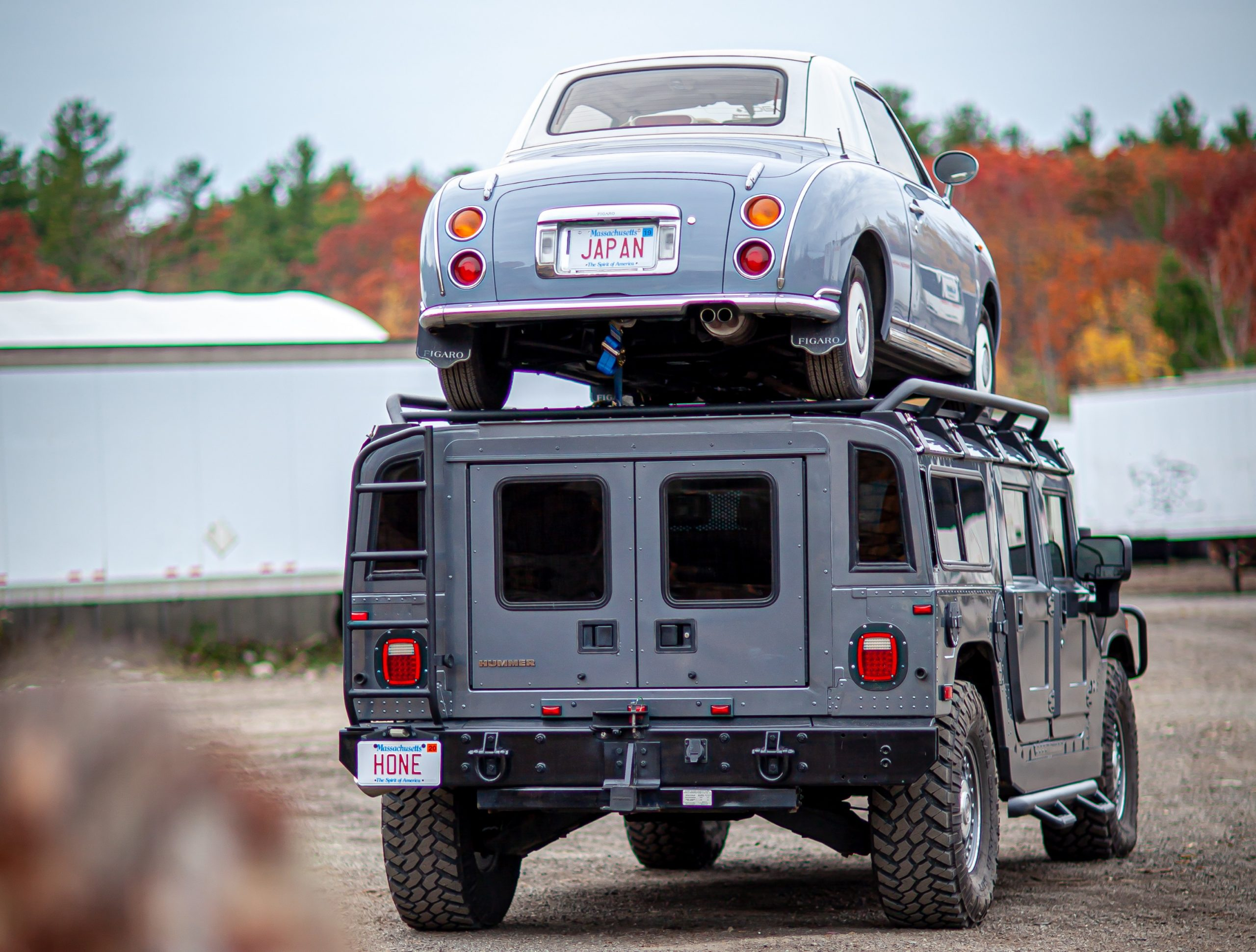 hummer predator rack nissan figaro on top rear