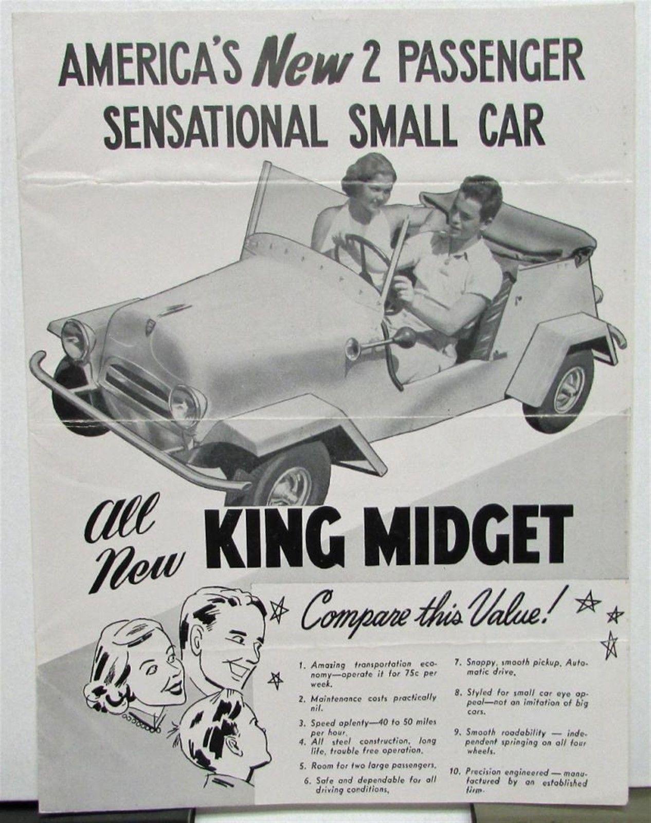 king midget car ad