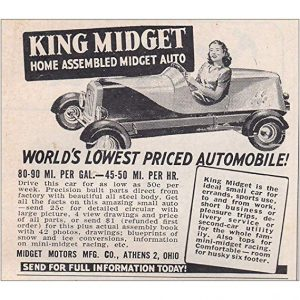 king midget worlds lowest priced automobile ad