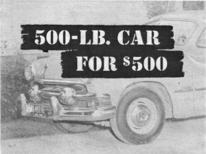 500 lb car ad by midget