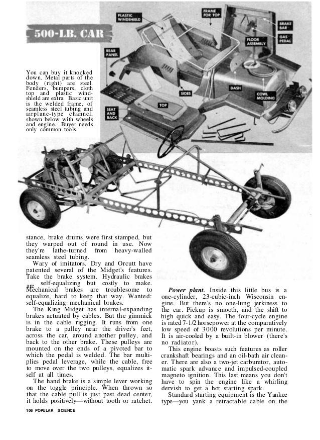 midget motors king midget chassis ad
