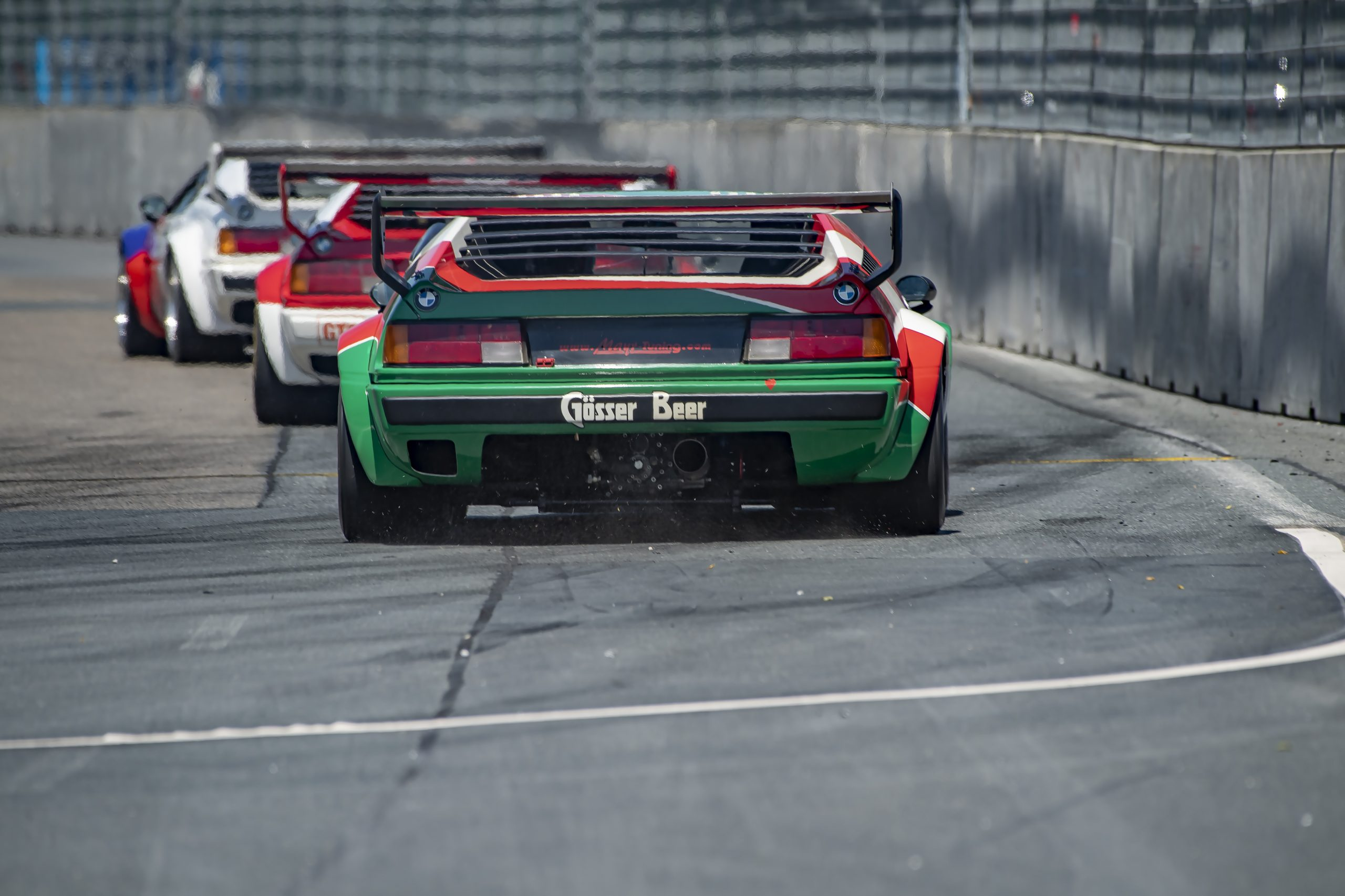 bmw m1 procar action rear track norisring