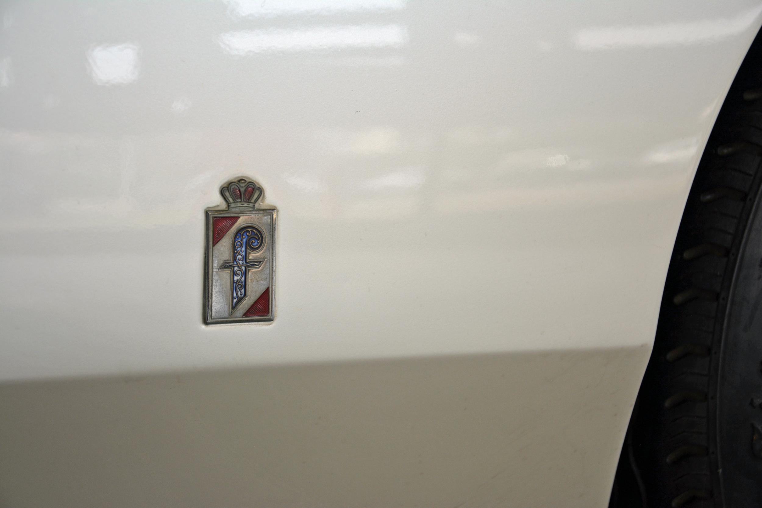 1968 ferrari p6 prototype quarter panel crest