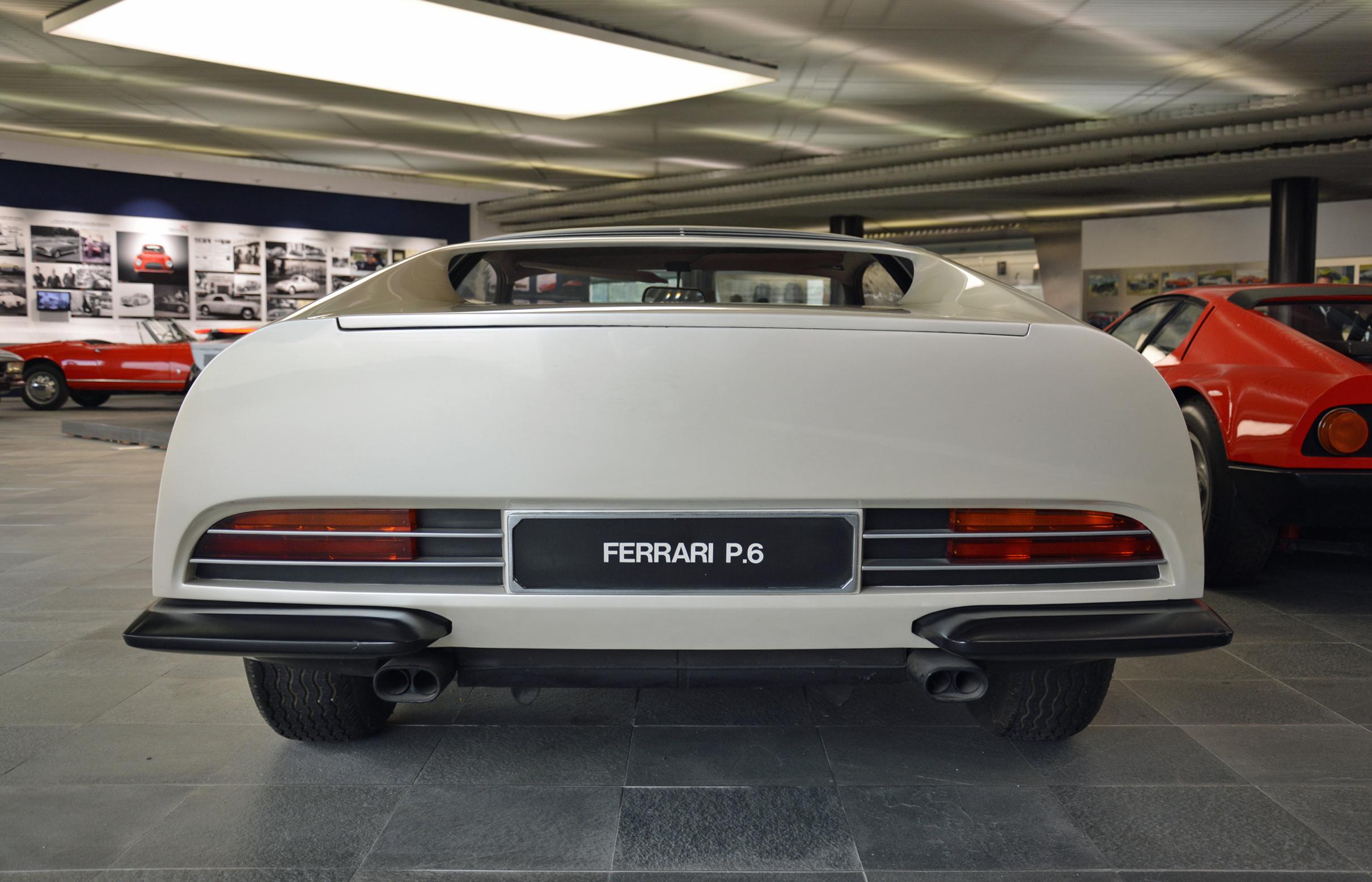 1968 ferrari p6 prototype rear