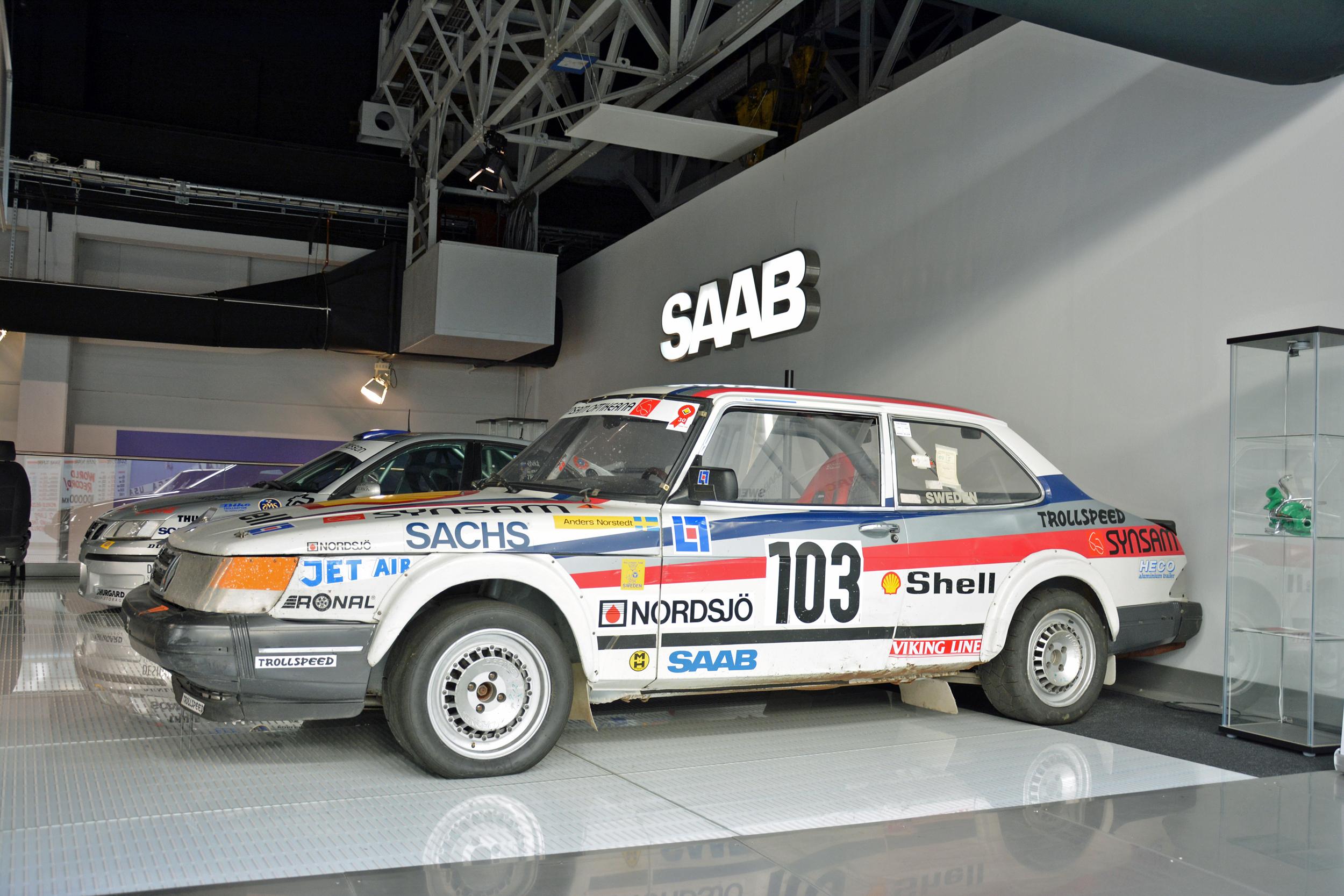 saab museum 900 t16 rallycross
