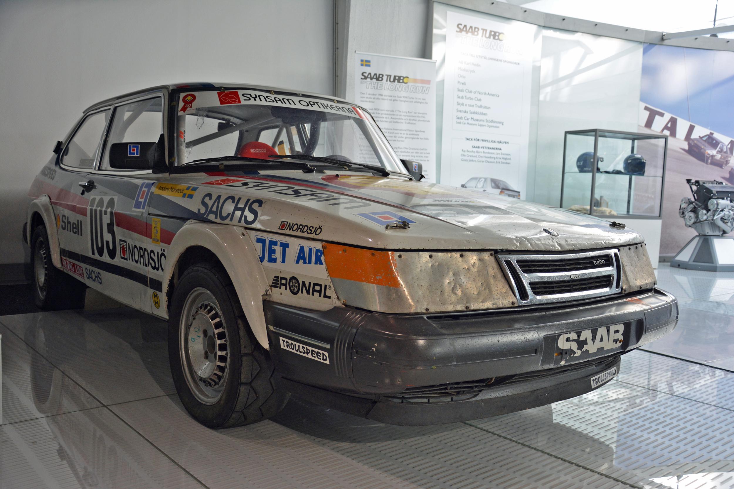 saab museum 900 t16 rally cross