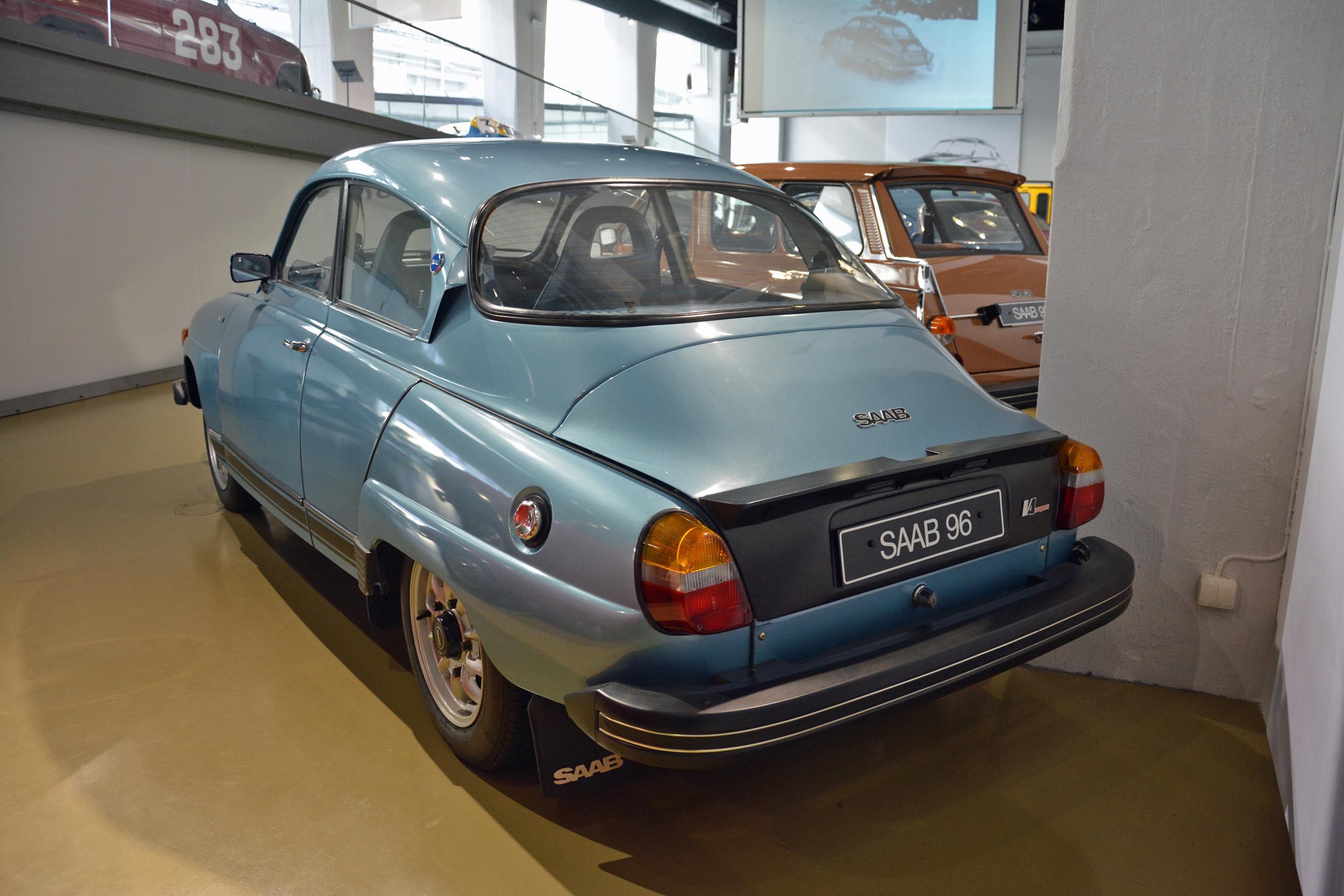saab museum 96 v4 rear