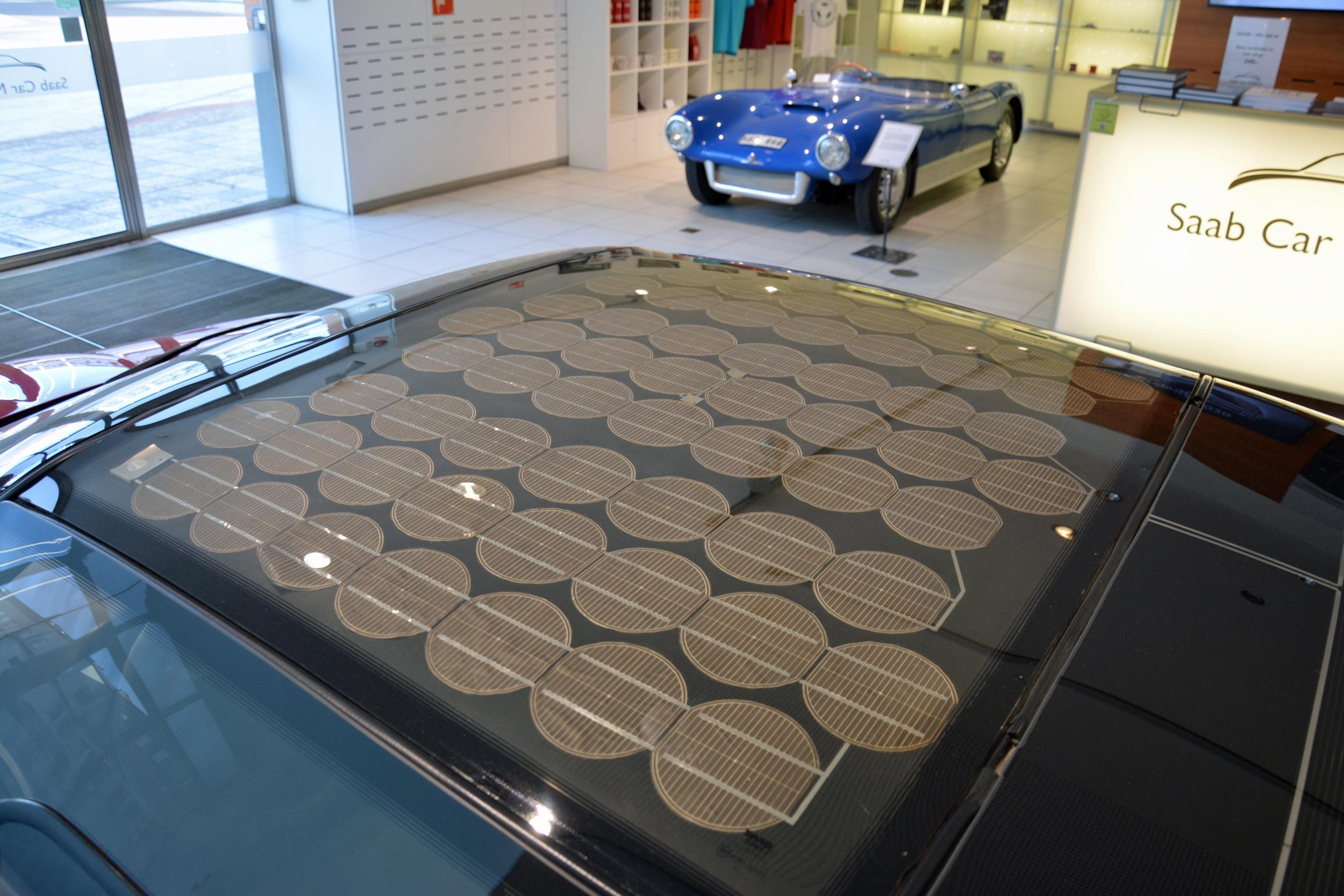 saab museum ev1 roof solar panel