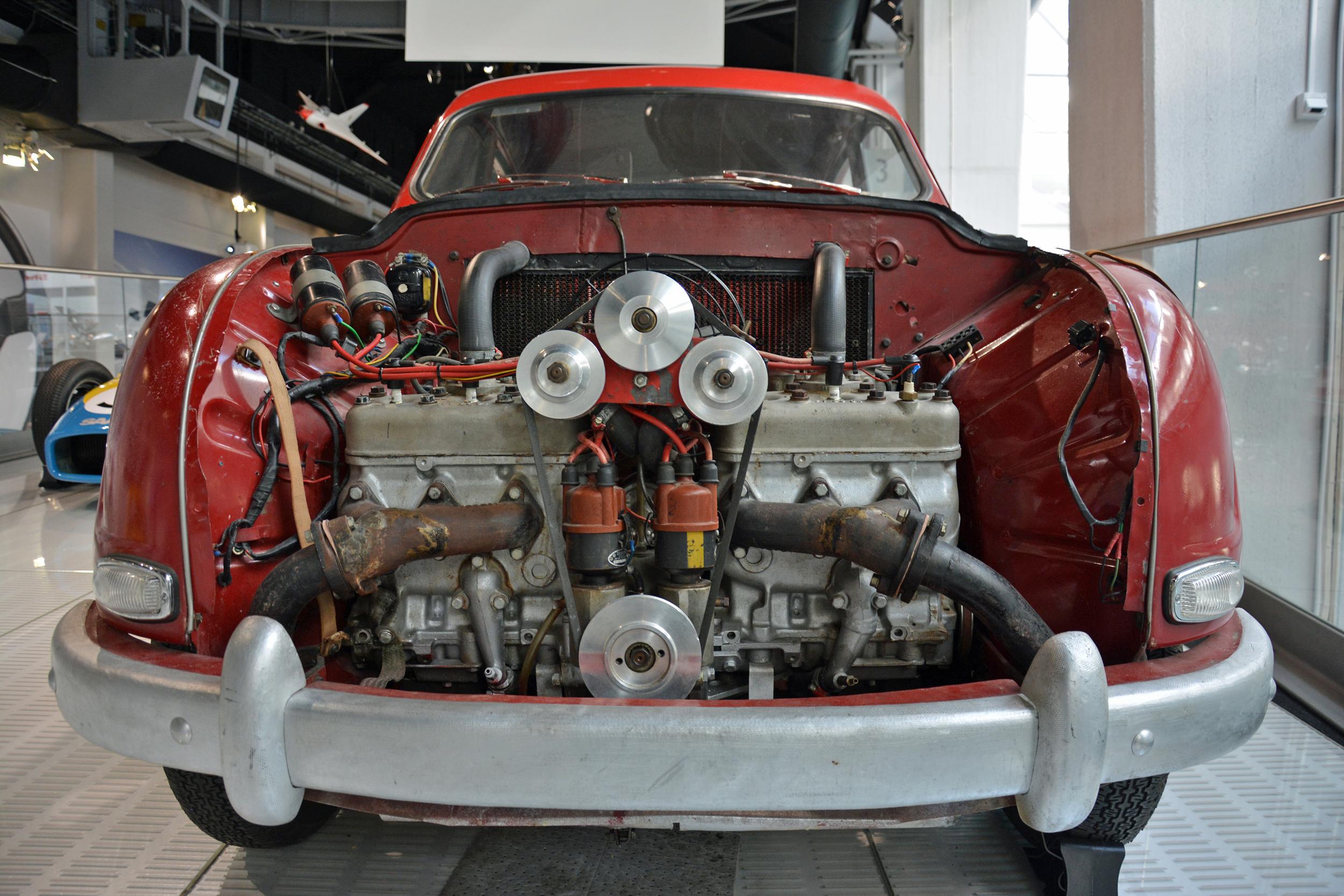 Saab museum monster 93 hood off