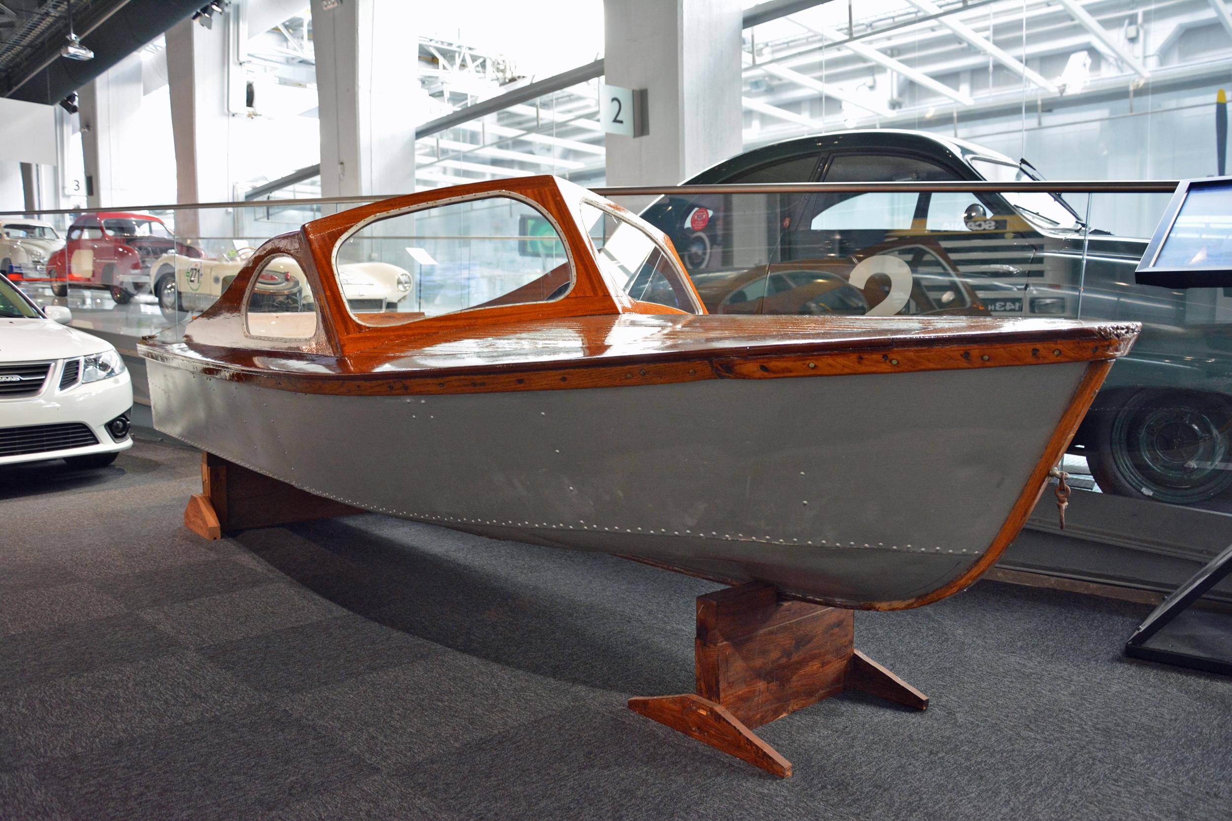 saab museum boat front three quarter