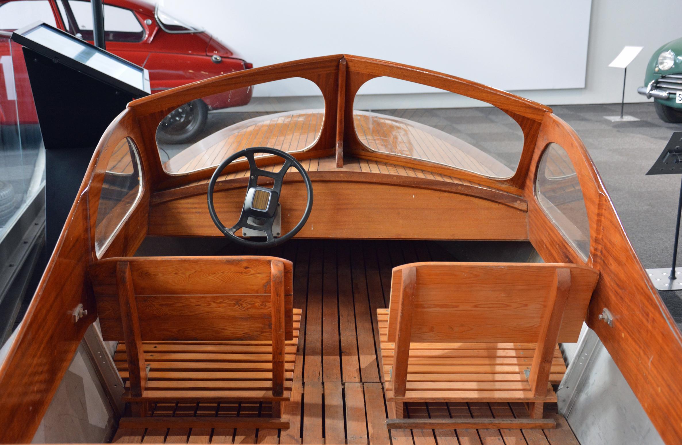 Saab Museum boat interior