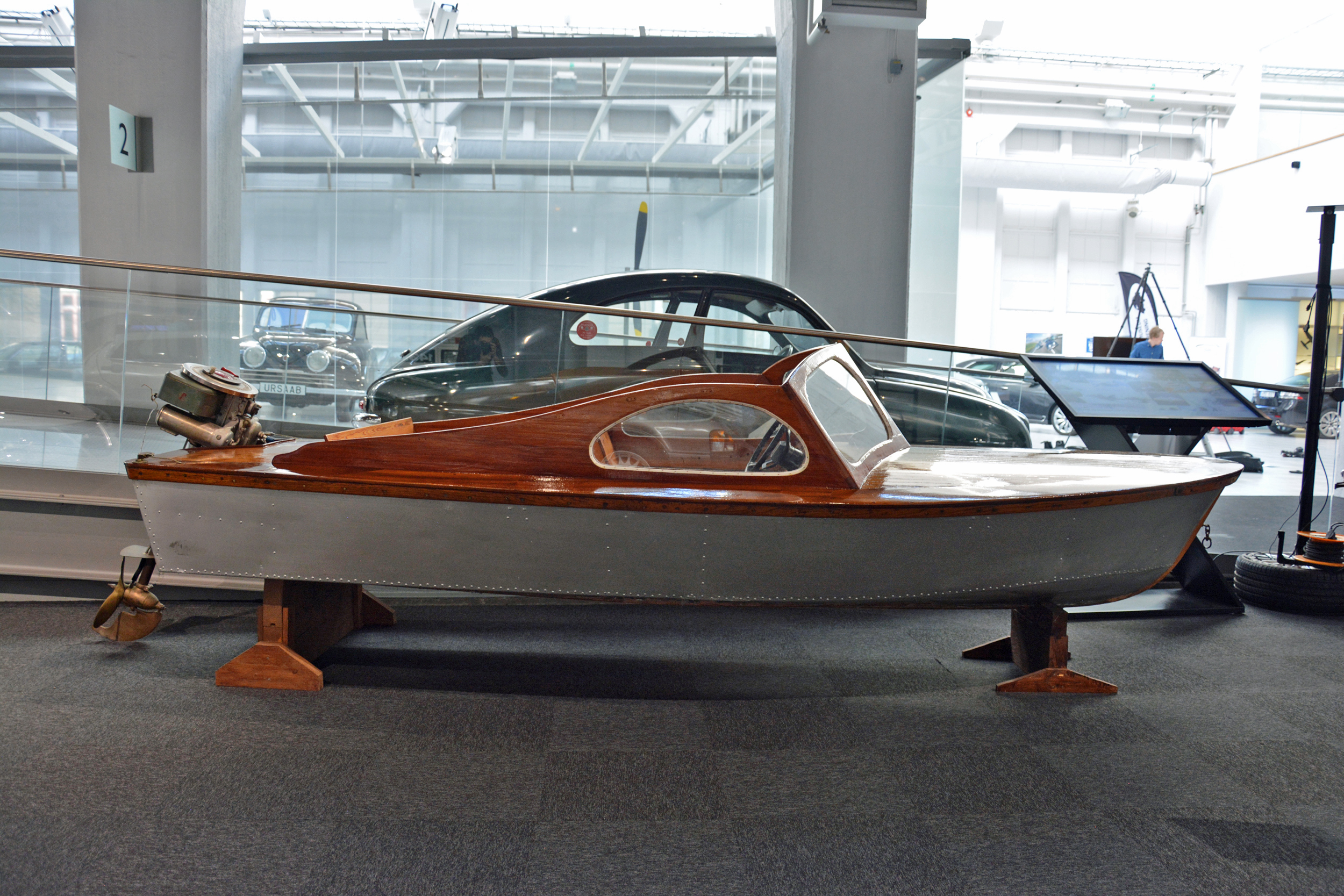 Saab Museum boat sideview