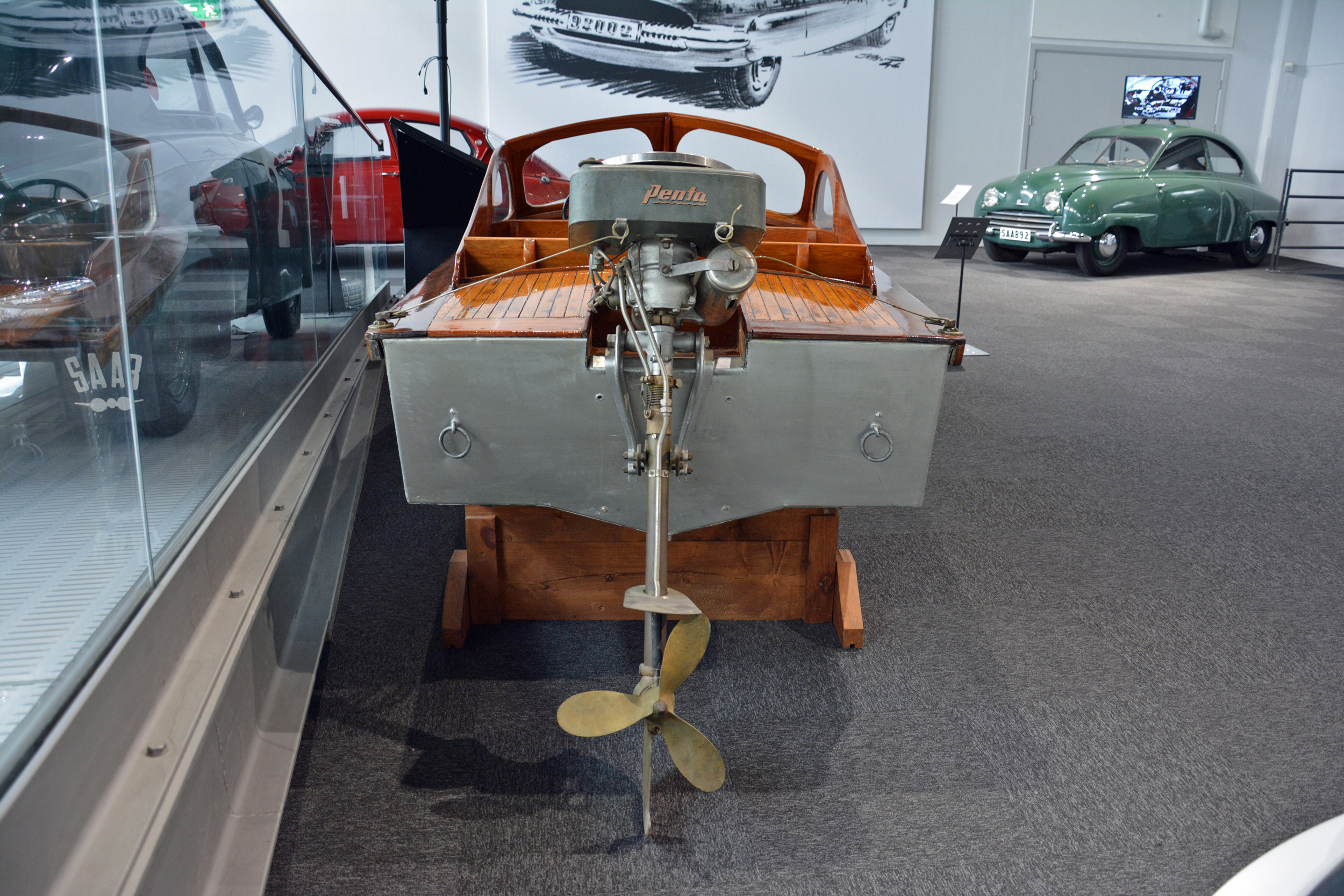 Saab museum boat rear view