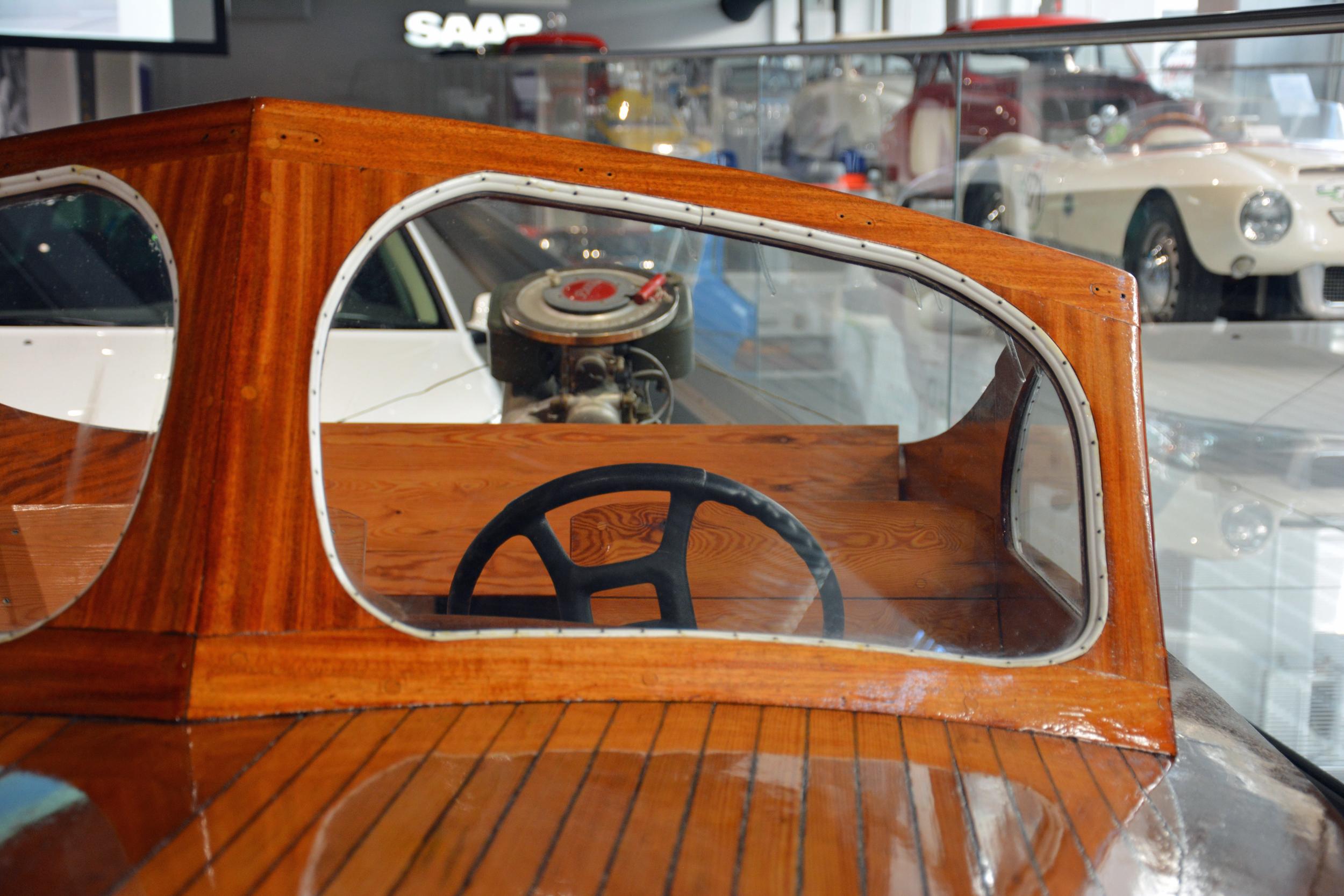 saab museum boat windshield