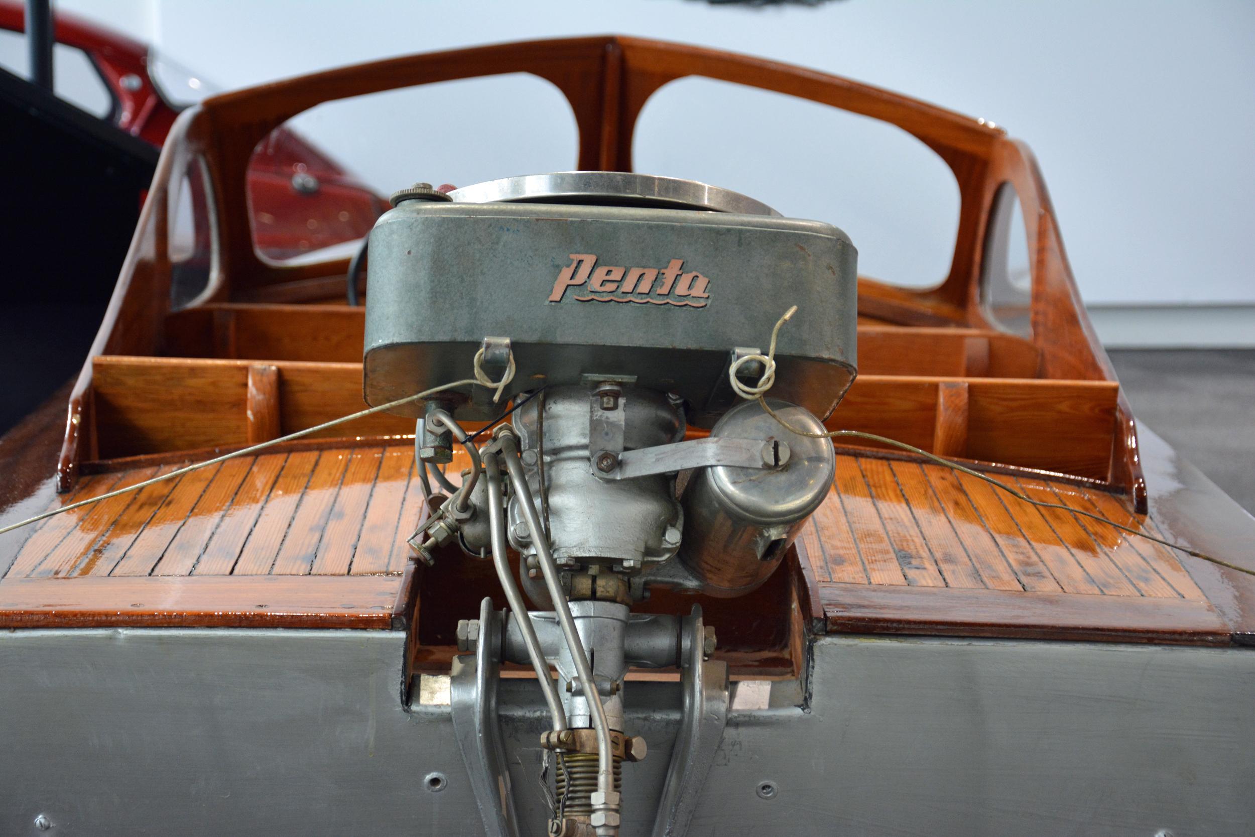Saab Museum Penta engine rear view