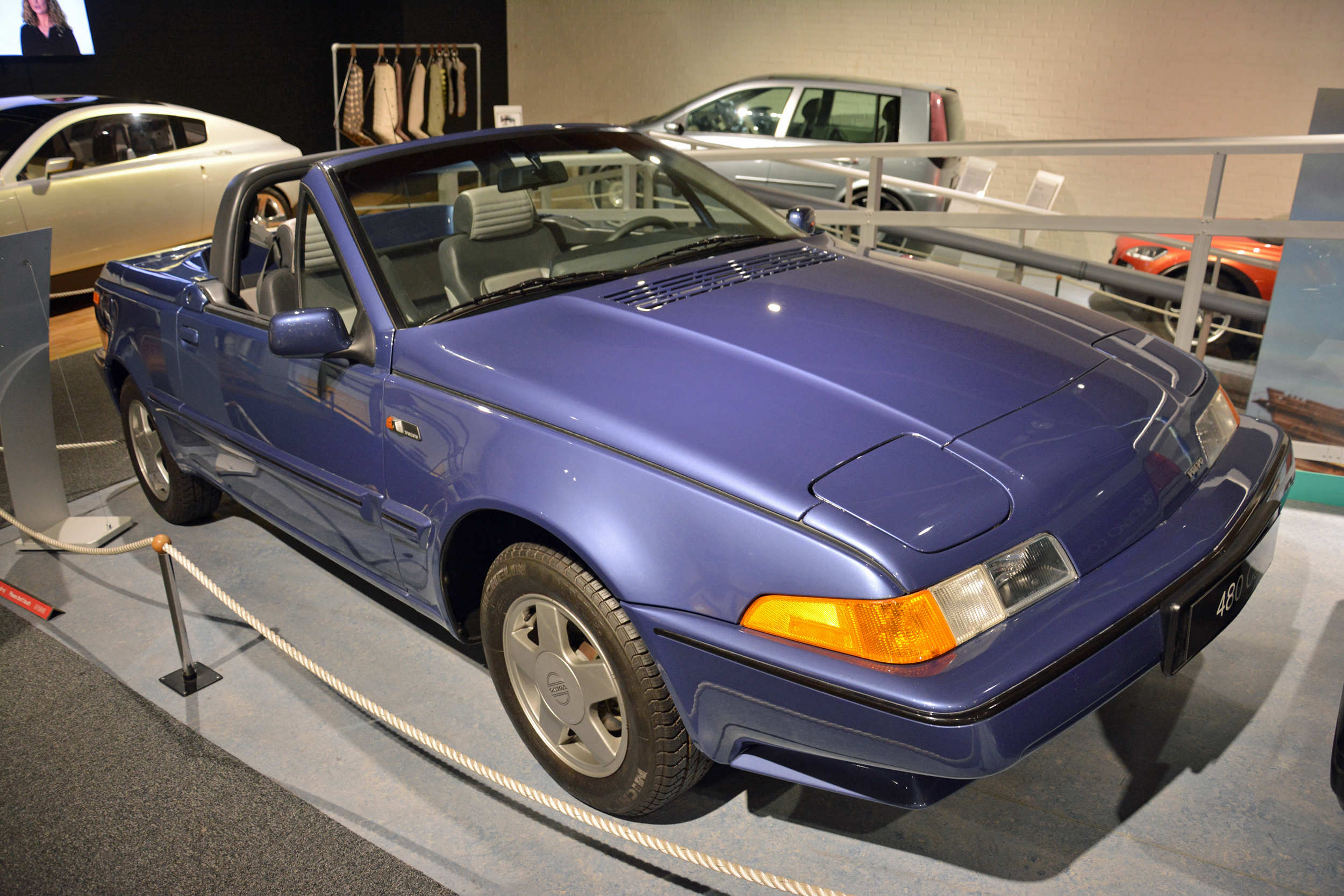 saab museum volvo 480 convertible front three quarter