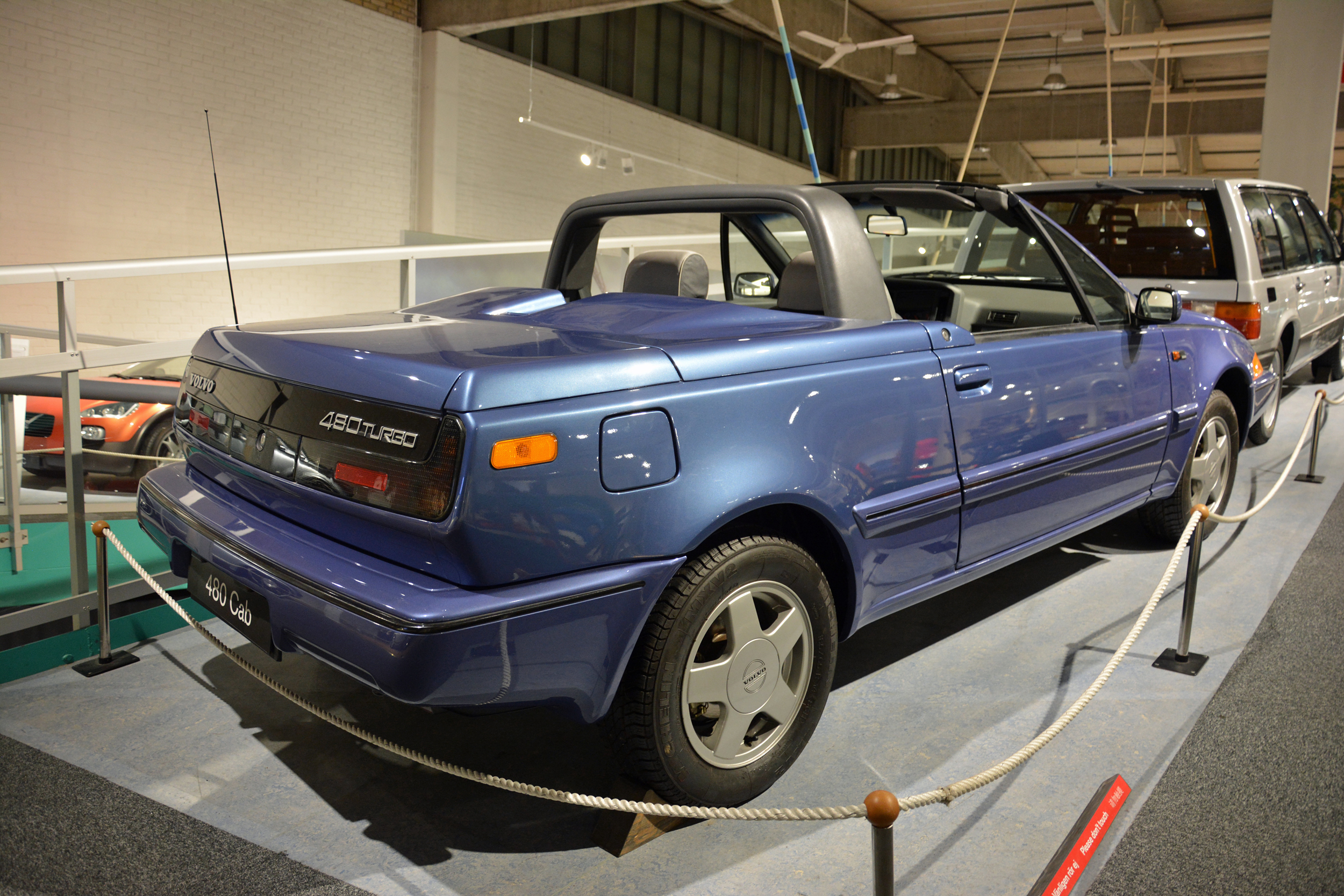saab museum volvo 480 turbo convertible