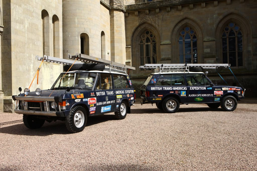 1971 land rover range rover darien gap back to back