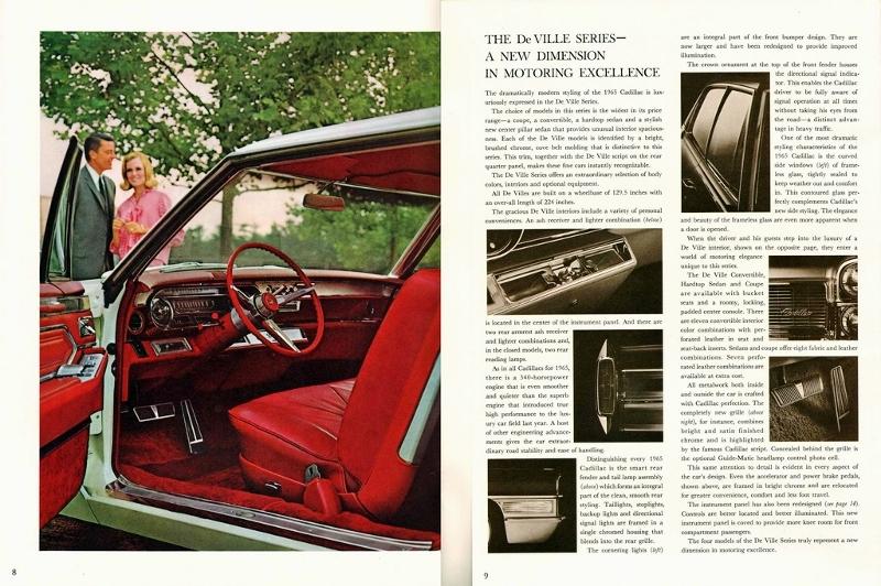 1965 Cadillac de Ville Series Advert
