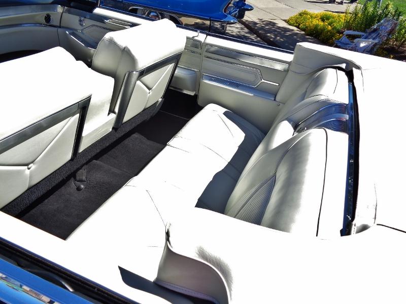 1965 Cadillac de Ville Convertible Interior Rear Seat