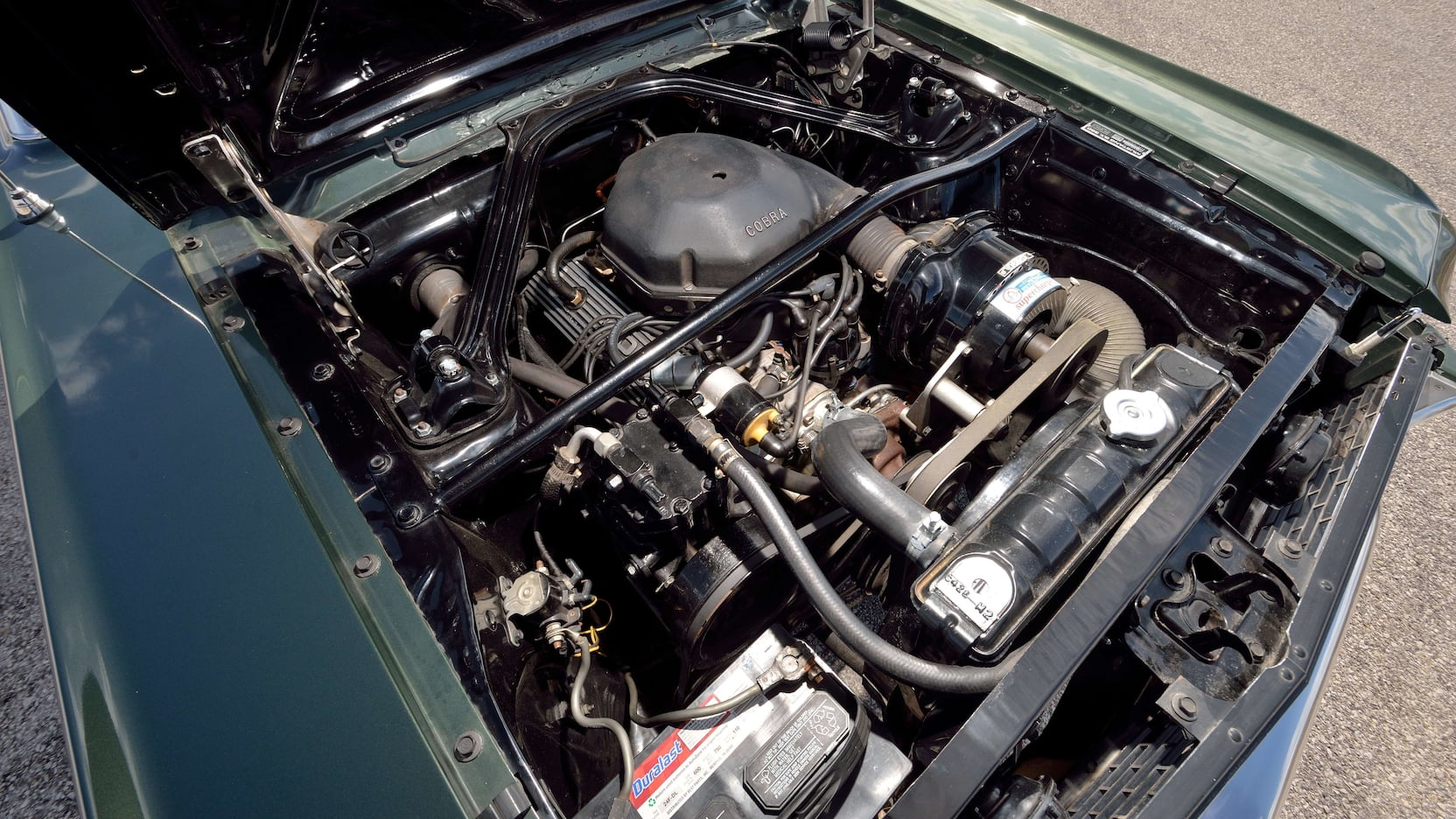 1966 Shelby GT350 Convertible Engine Angle Left