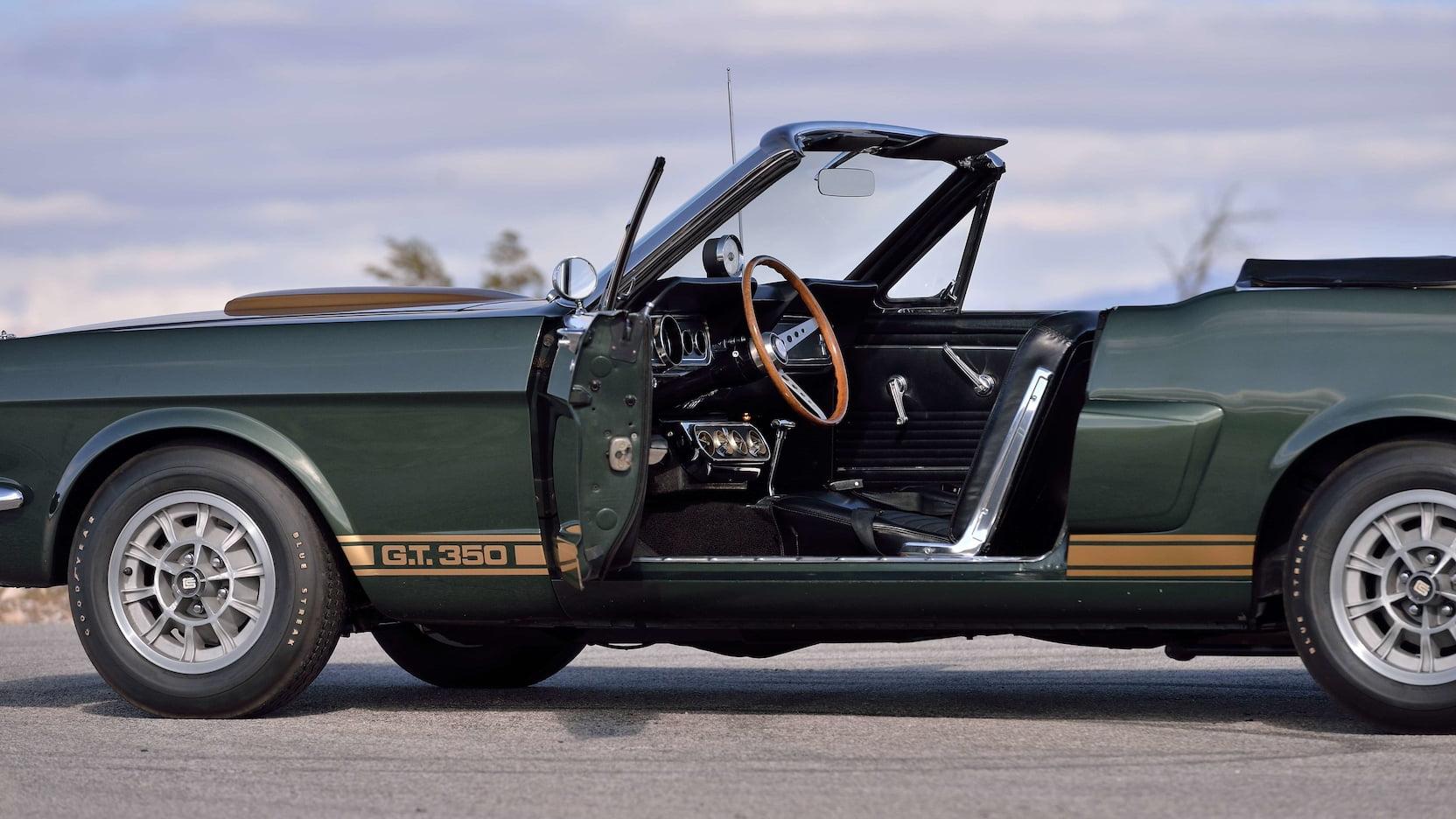 1966 Shelby GT350 Convertible Door Open Side Profile