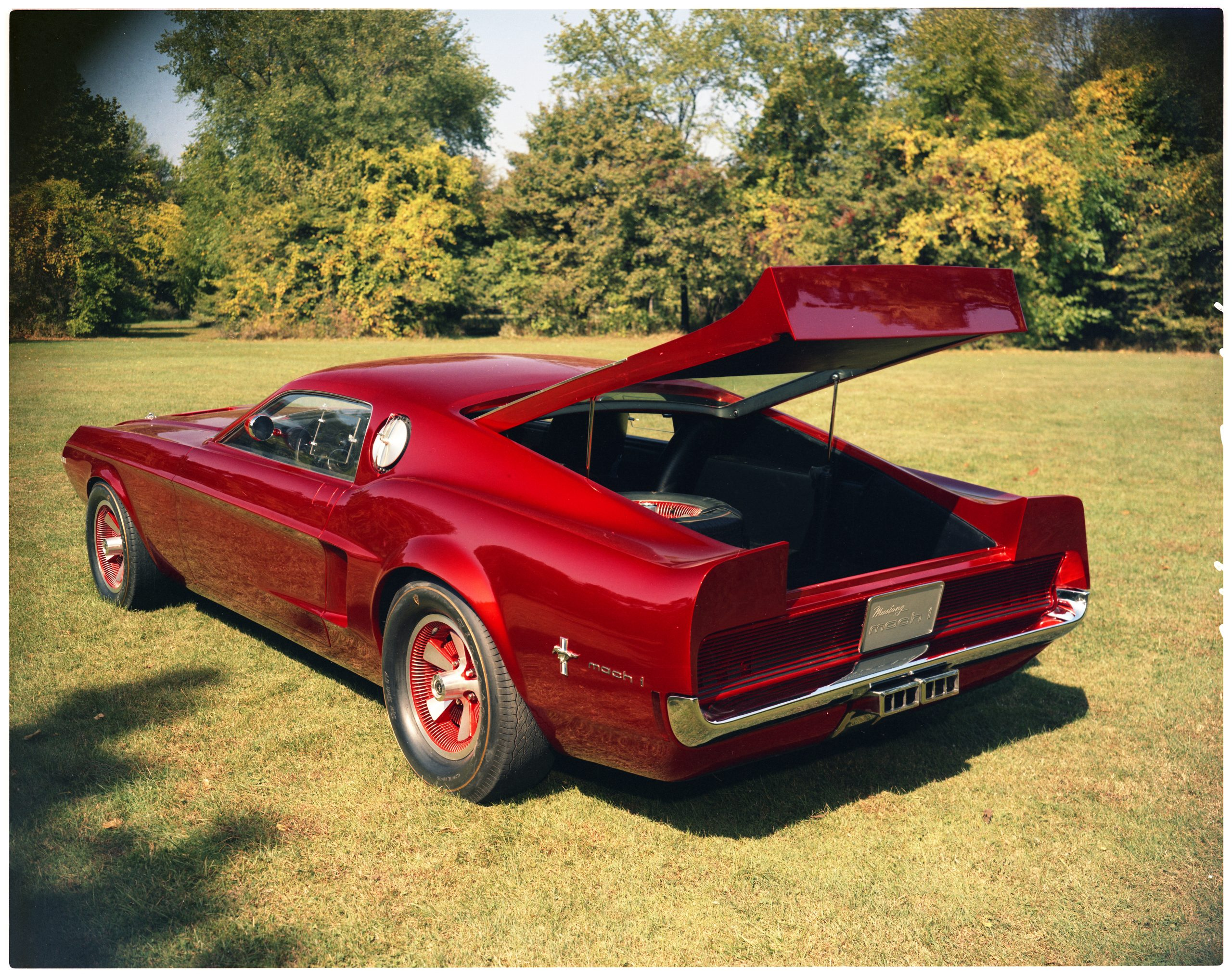 1968 Ford Mustang Mach I Concept Car Rear Three-Quarter