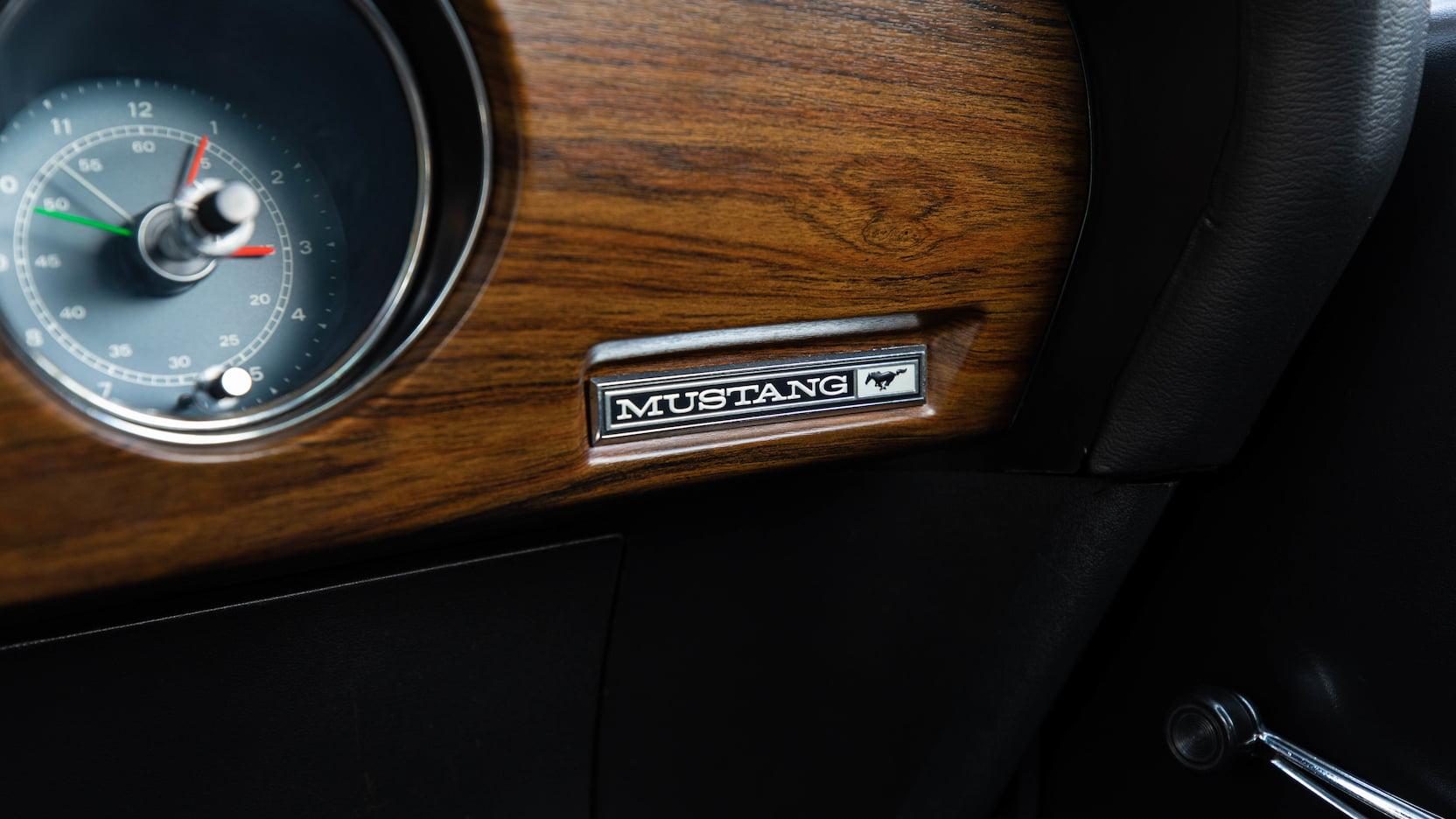 1969 Ford Mustang Boss 429 Fastback Dash Badge Close Up