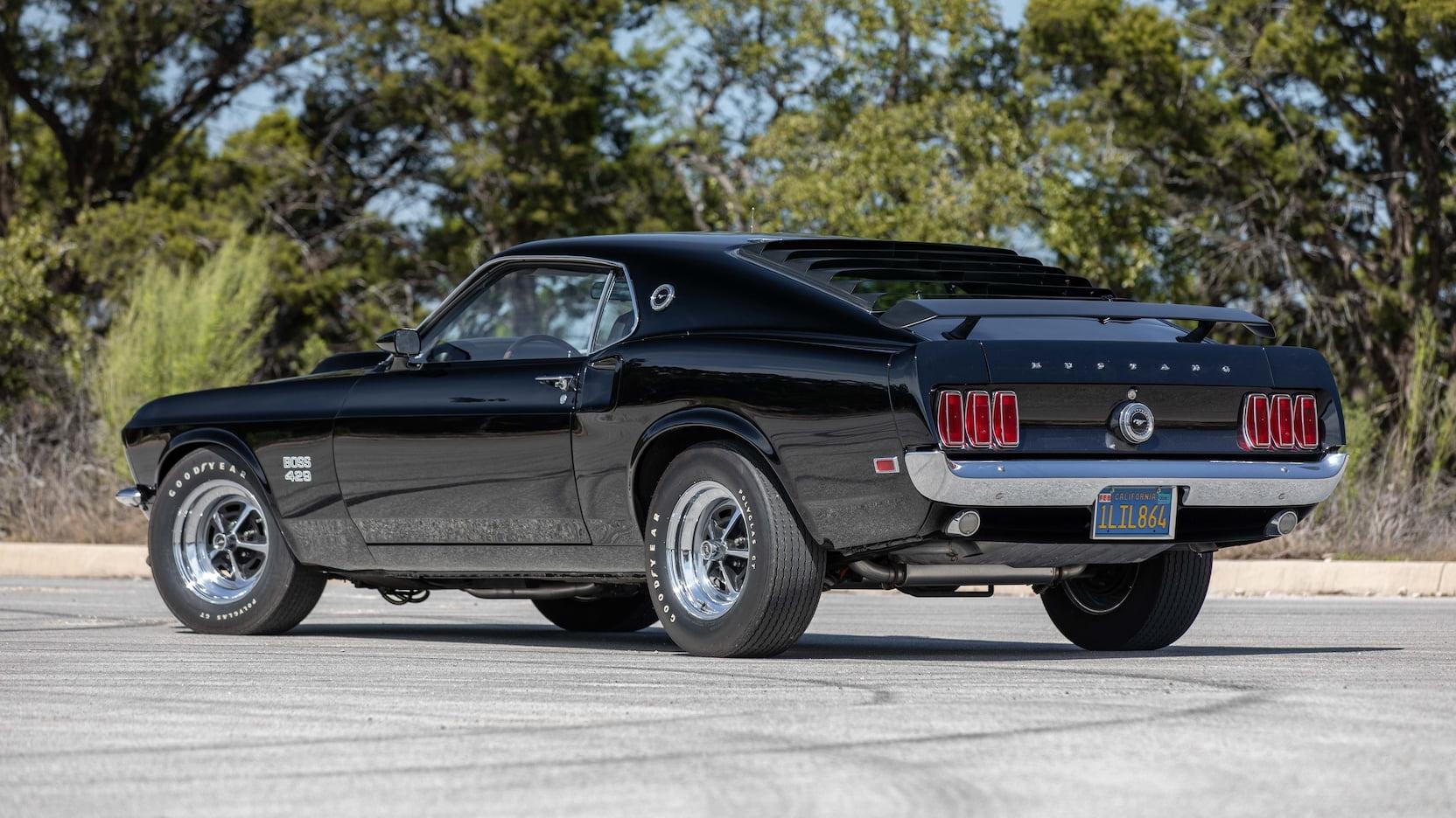 1969 Ford Mustang Boss 429 Fastback Rear Three-Quarter