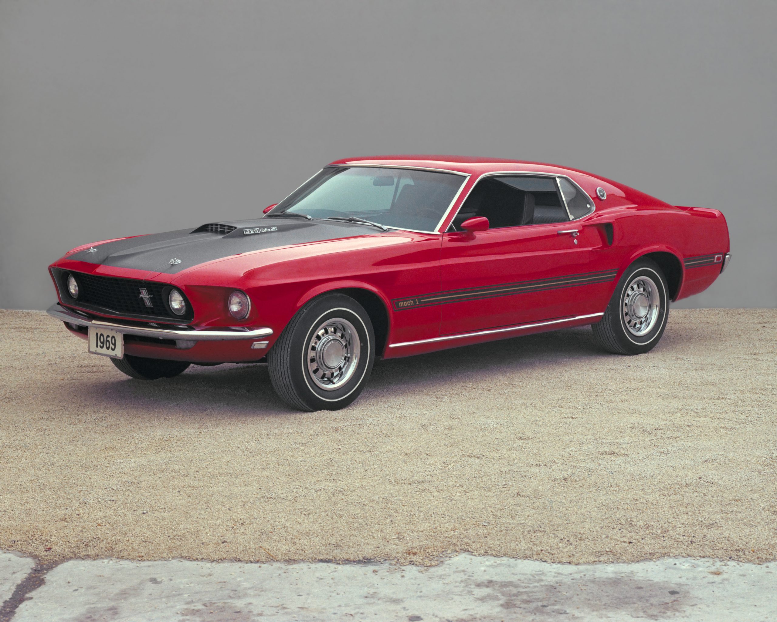 1969 Ford Mustang Mach 1 Fastback Front Three-Quarter