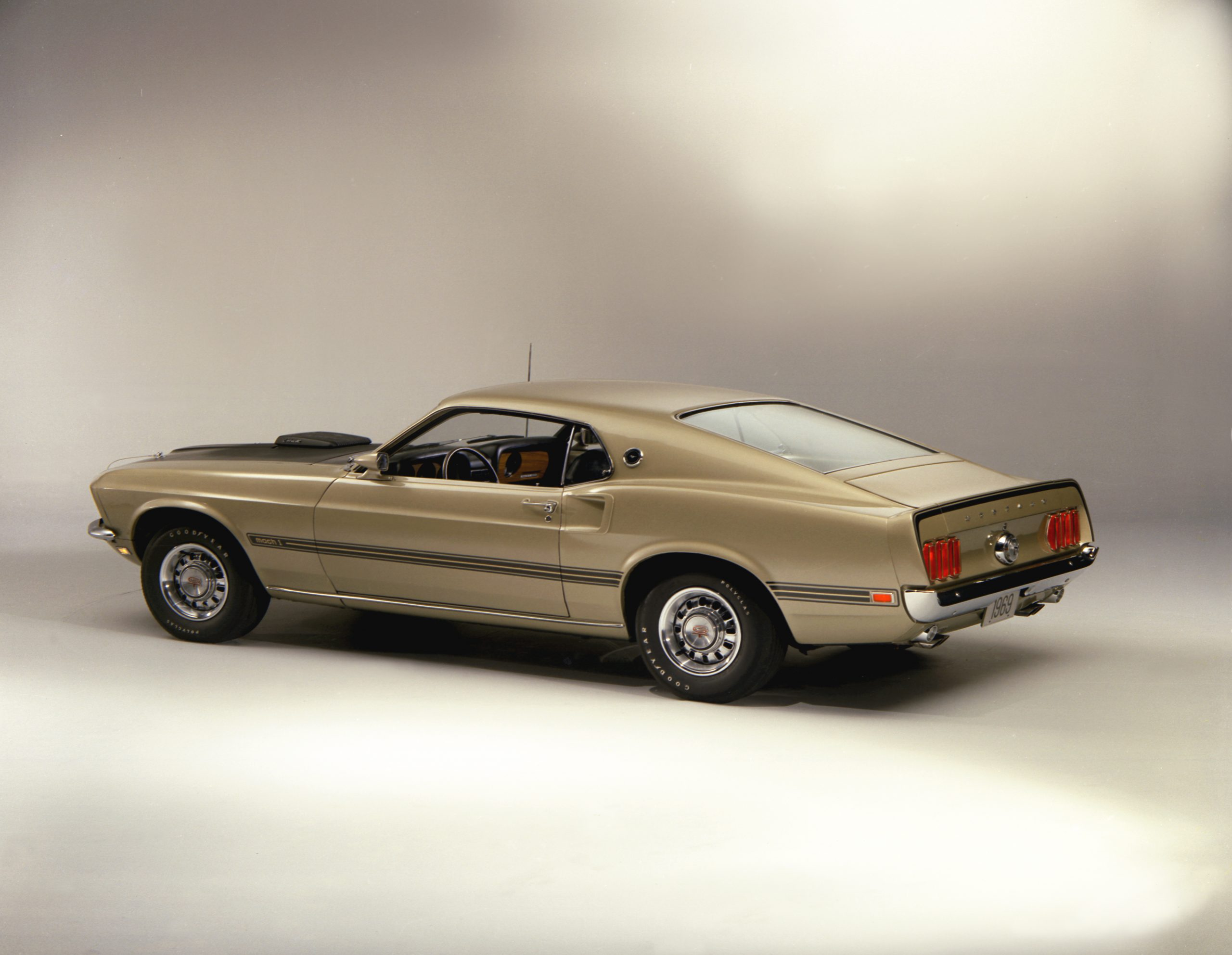 1969 Ford Mustang Mach 1 Fastback Rear Three-Quarter Studio