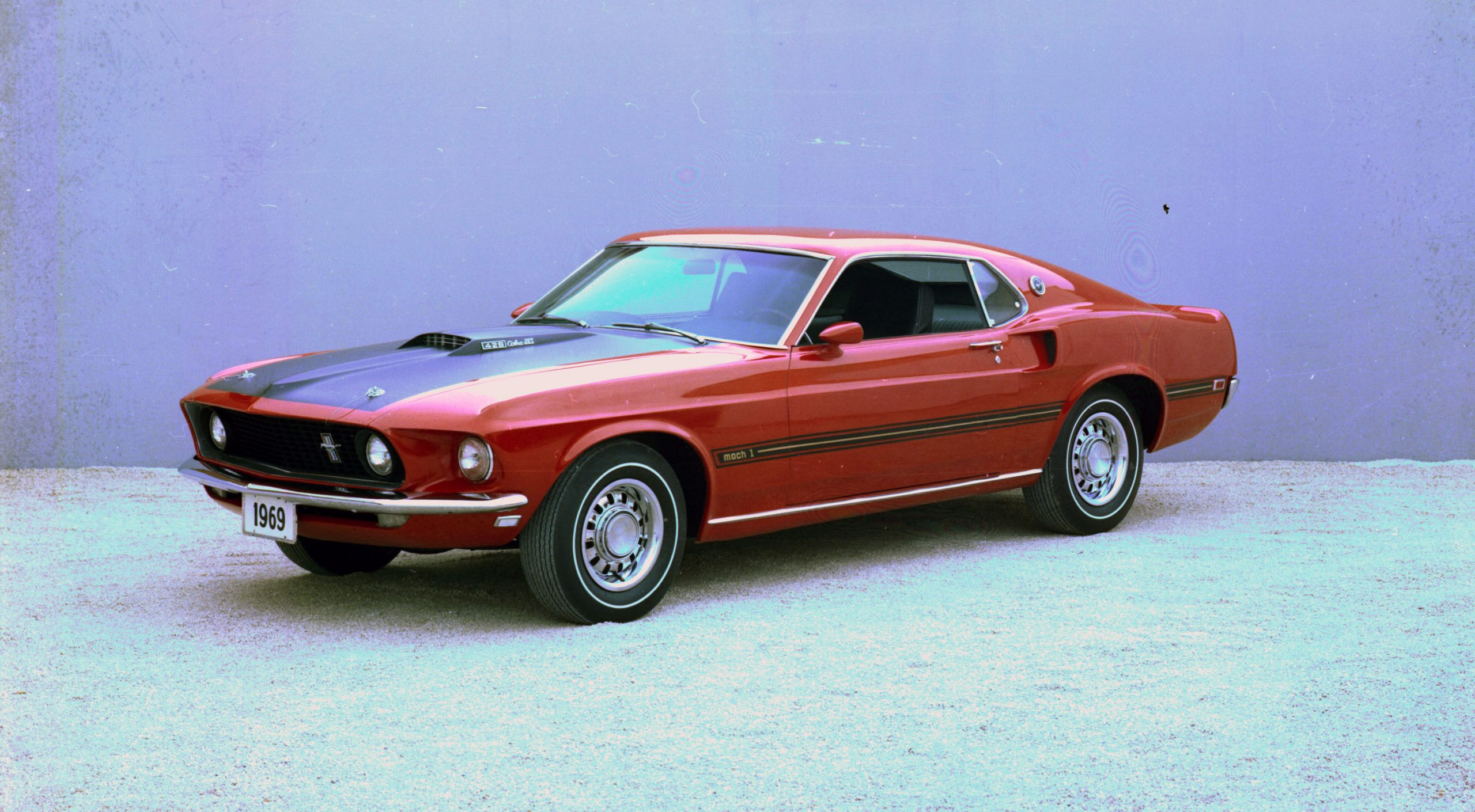 1969 Ford Mustang Mach I 428 Cobra Jet Front Three-Quarter