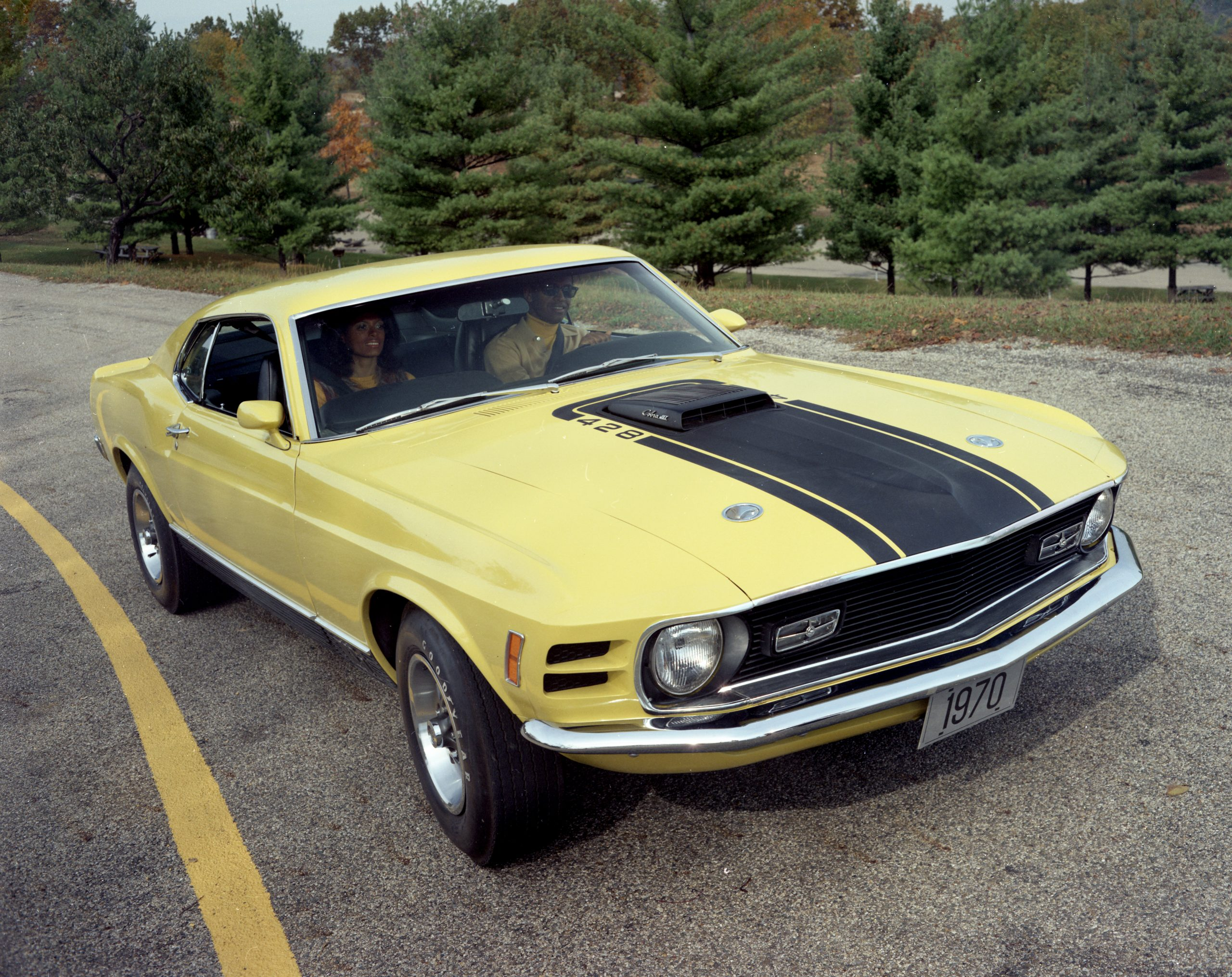 1970 Yellow Ford Mustang Mach 1 Fastback