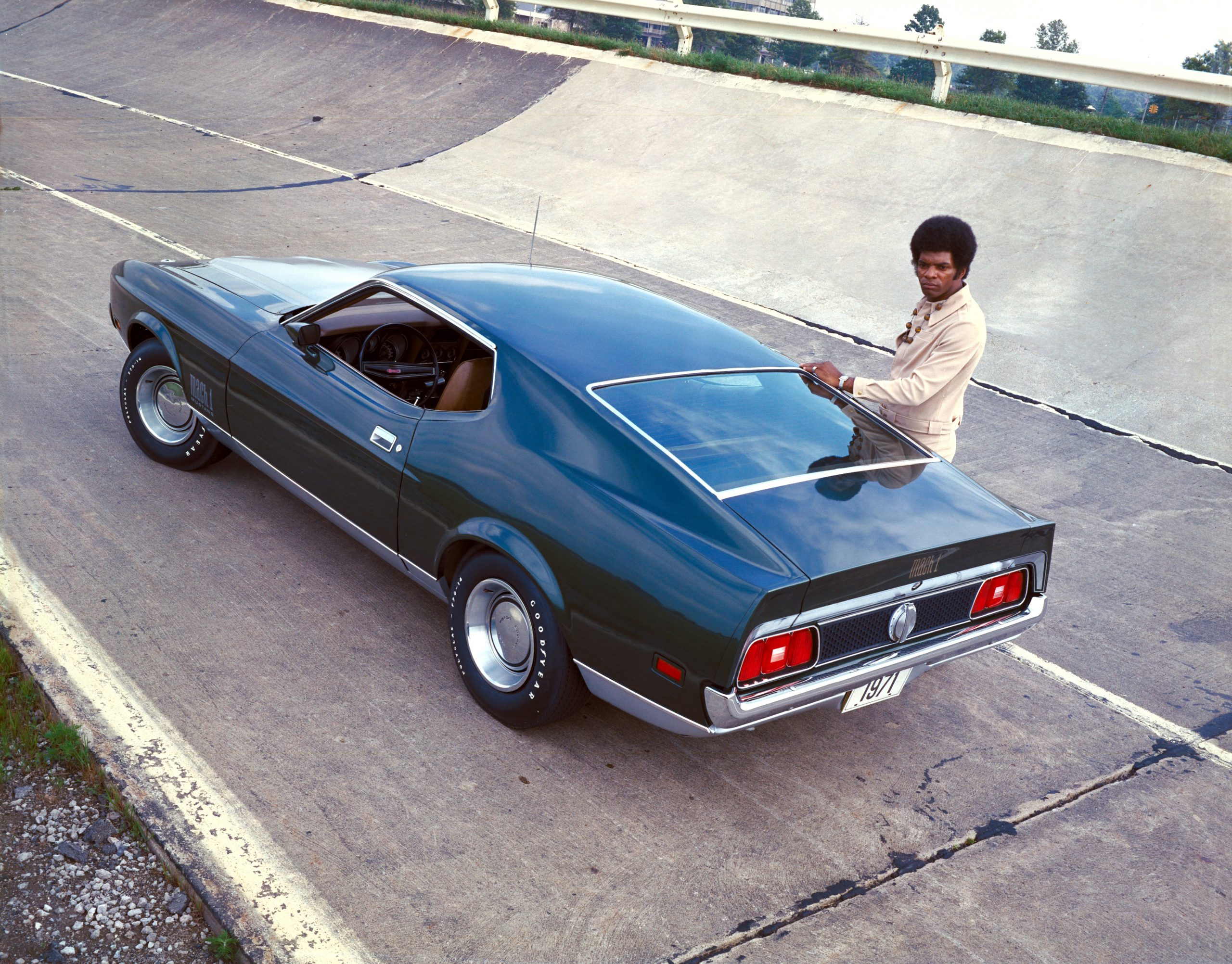 1971 Mustang Mach 1 Rear Three-Quarter At Track