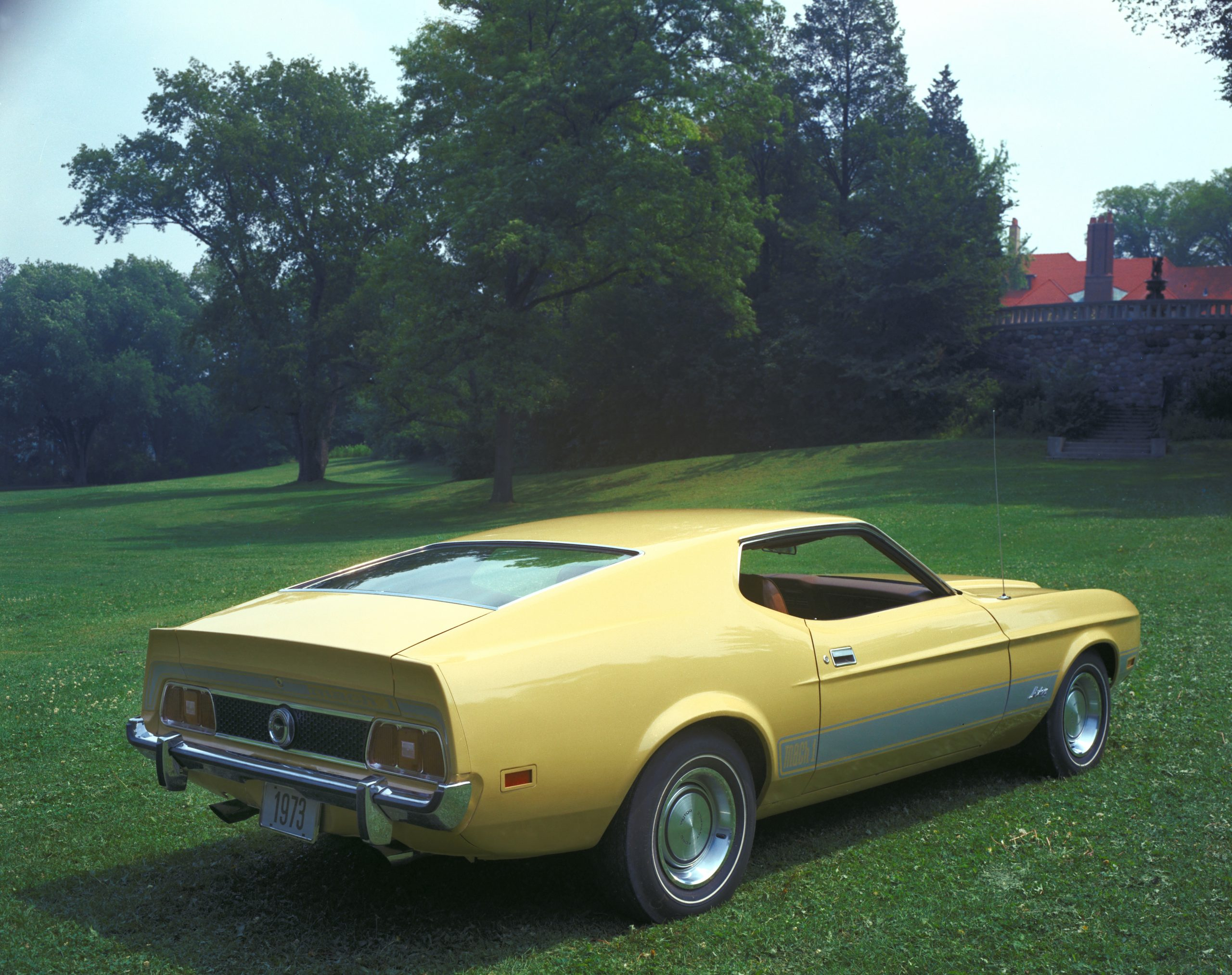 1973 Ford Mustang Mach 1 Fastback Rear Three-Quarter