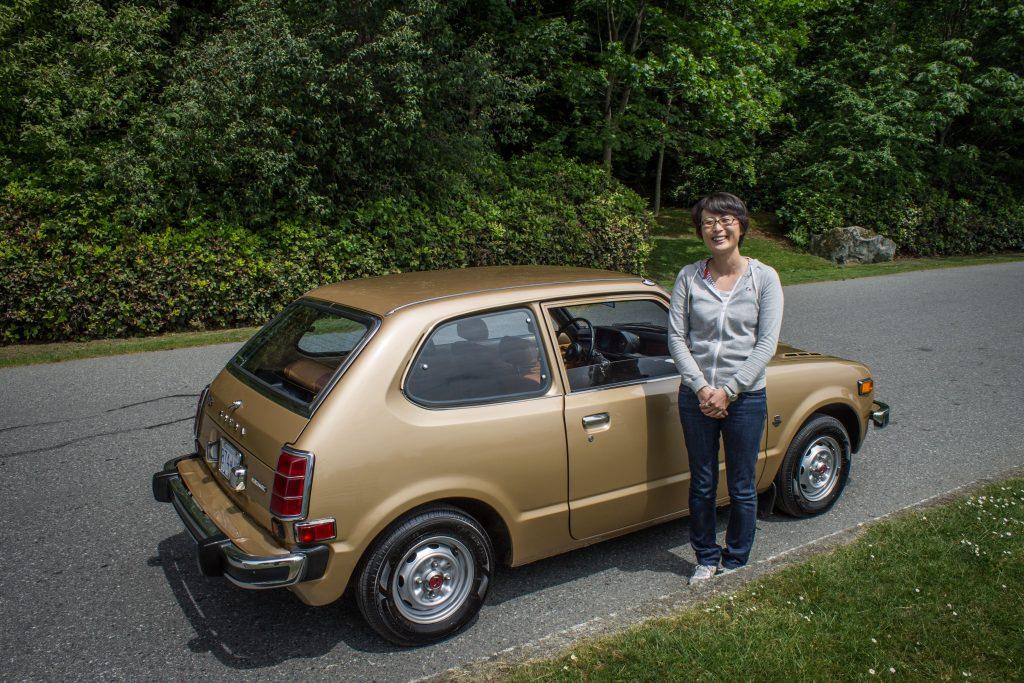1977 Honda Civic Hatchback and Owner