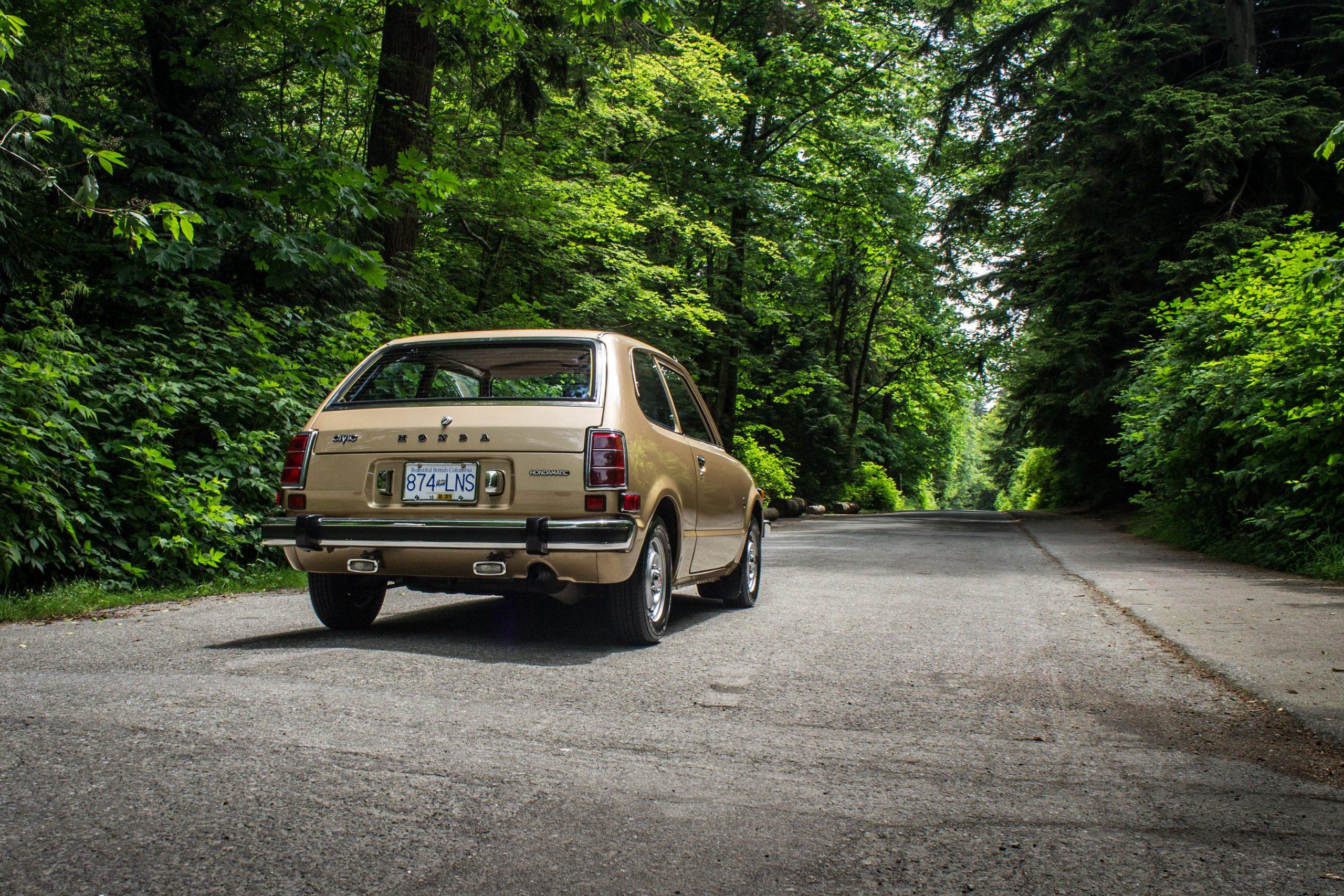 1977 Honda Civic Hatchback Rear Three-Quarter