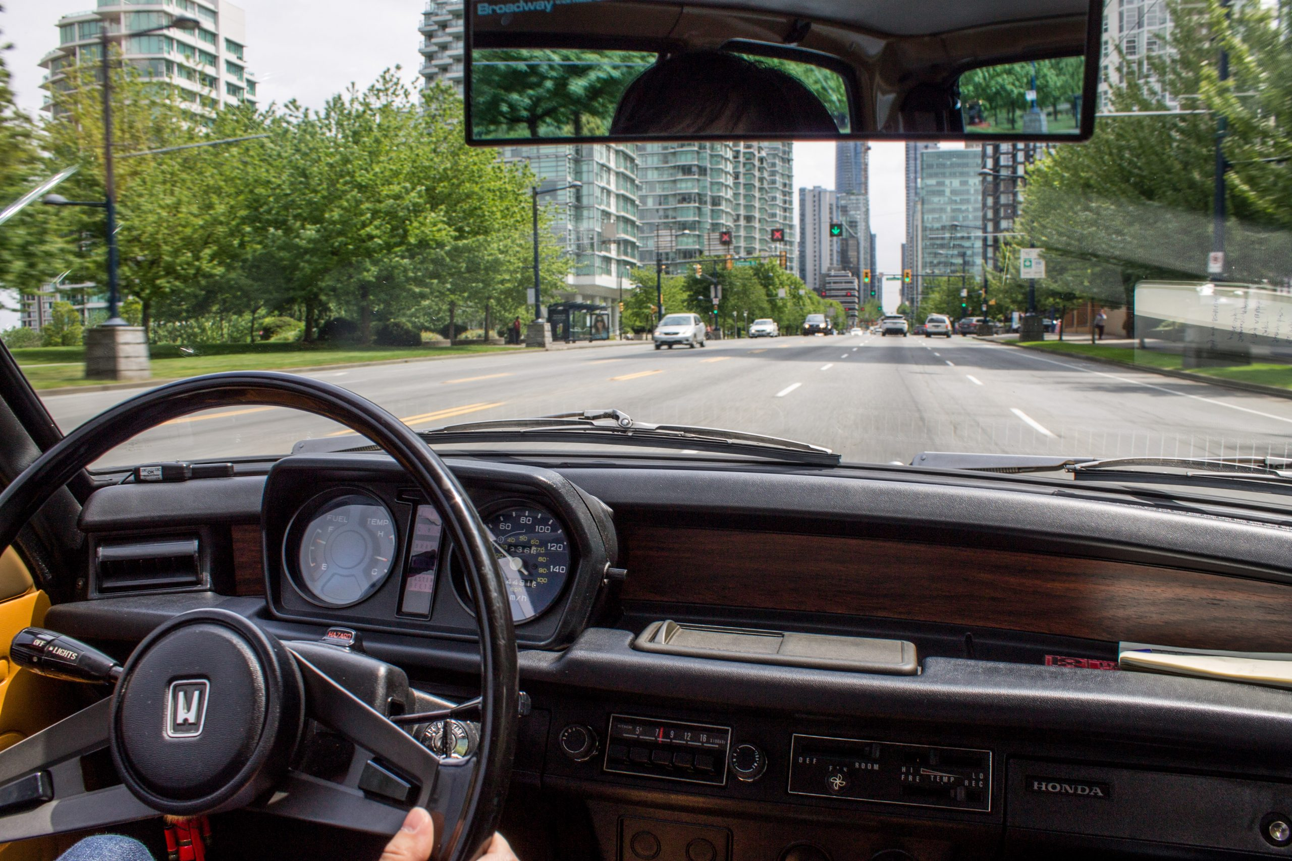 1977 Honda Civic Hatchback Interior Front Action