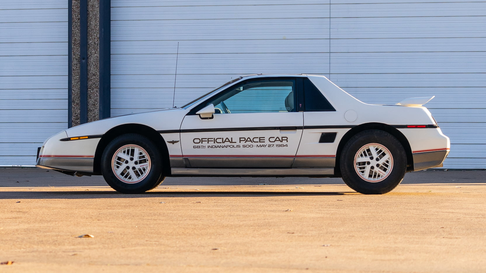 1984 Pontiac Fiero Indy Pace Car Side Profile