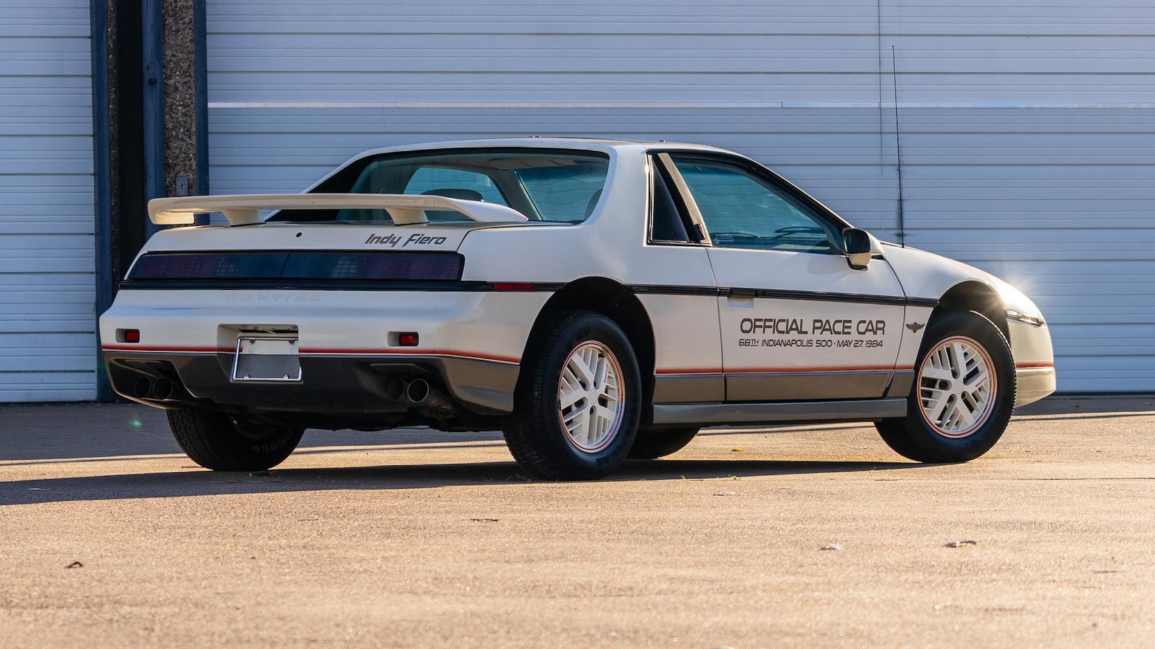 1984 Pontiac Fiero Indy Pace Car Rear Three-Quarter